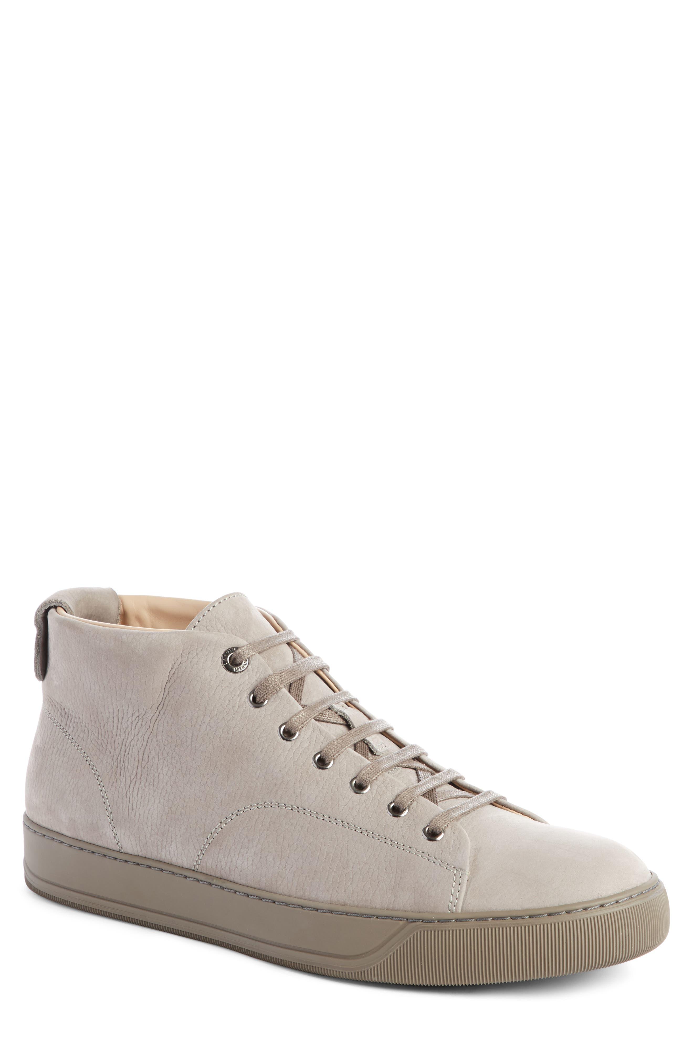 Mid Top Sneaker,                         Main,                         color, Light Grey Suede