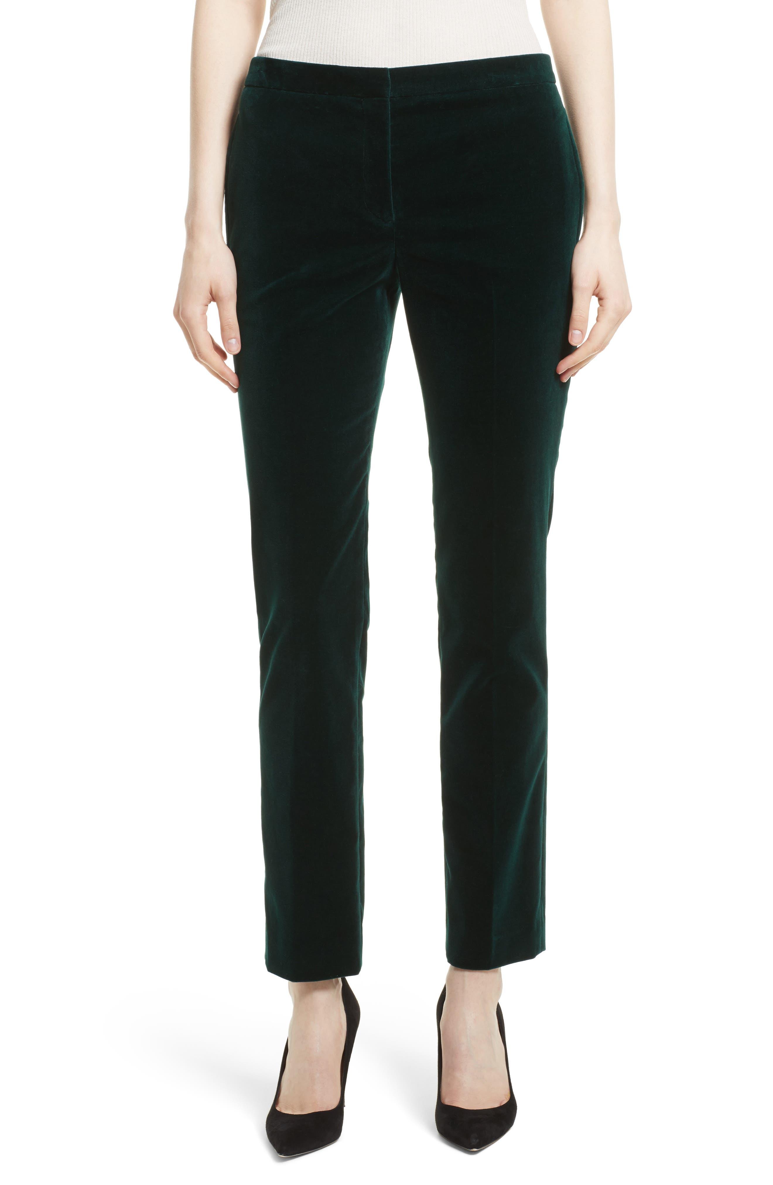 Theory Stretch Velvet Tux Pants