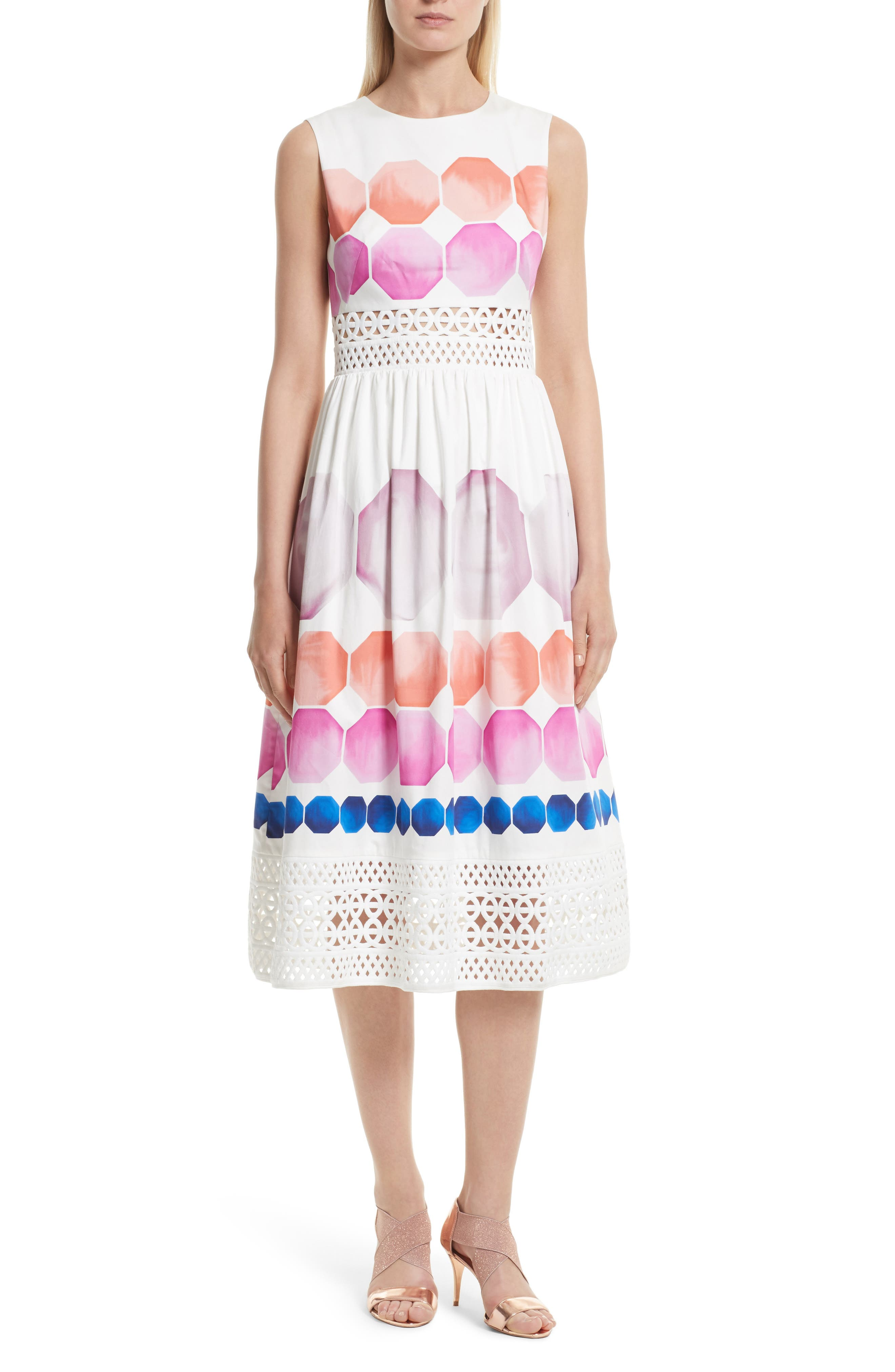 Main Image - Ted Baker London Serinah Stretch Cotton Midi Dress