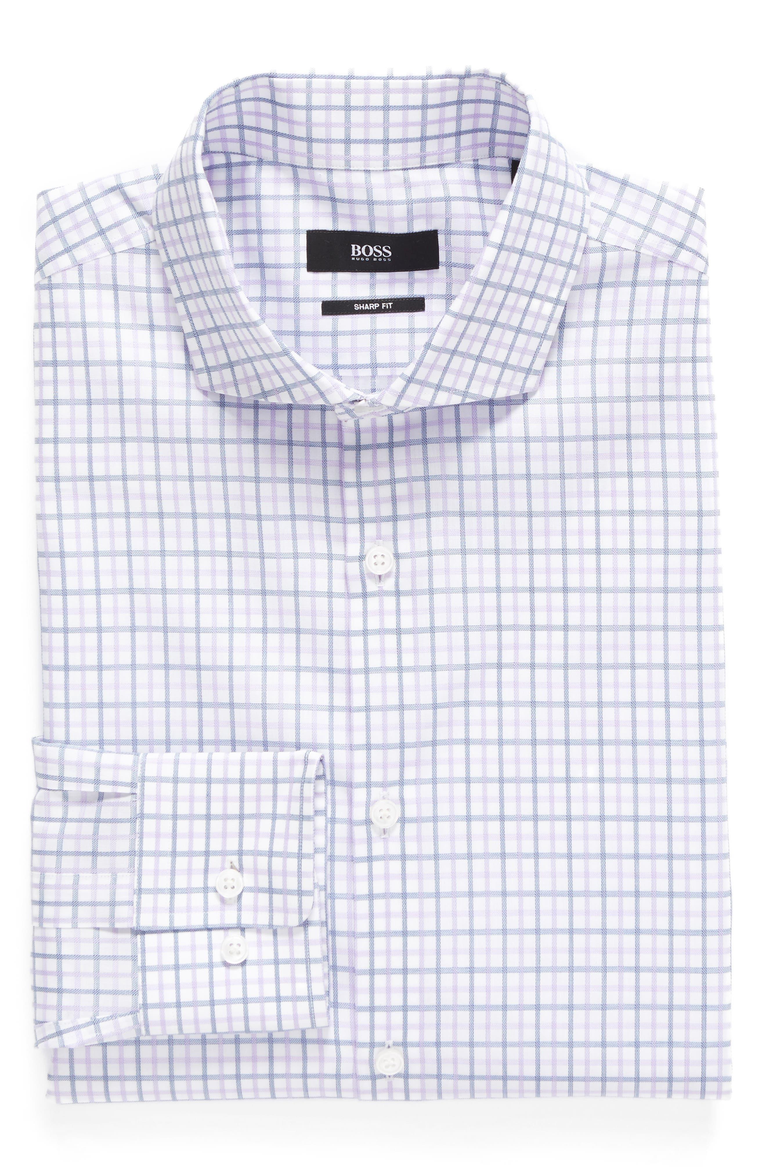 BOSS Sharp Fit Check Dress Shirt