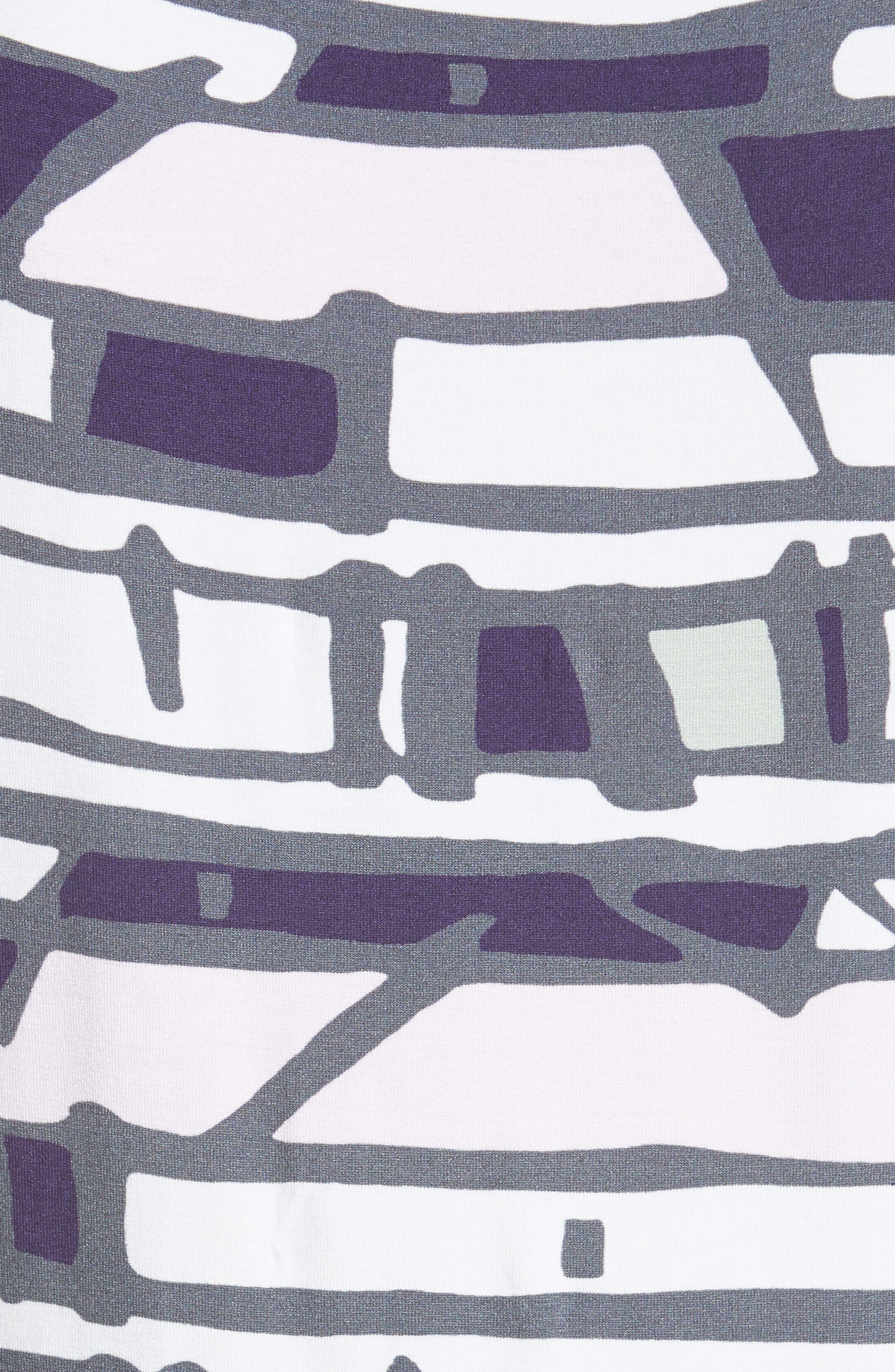 Alternate Image 5  - St. John Collection Broken Stripe Print Top
