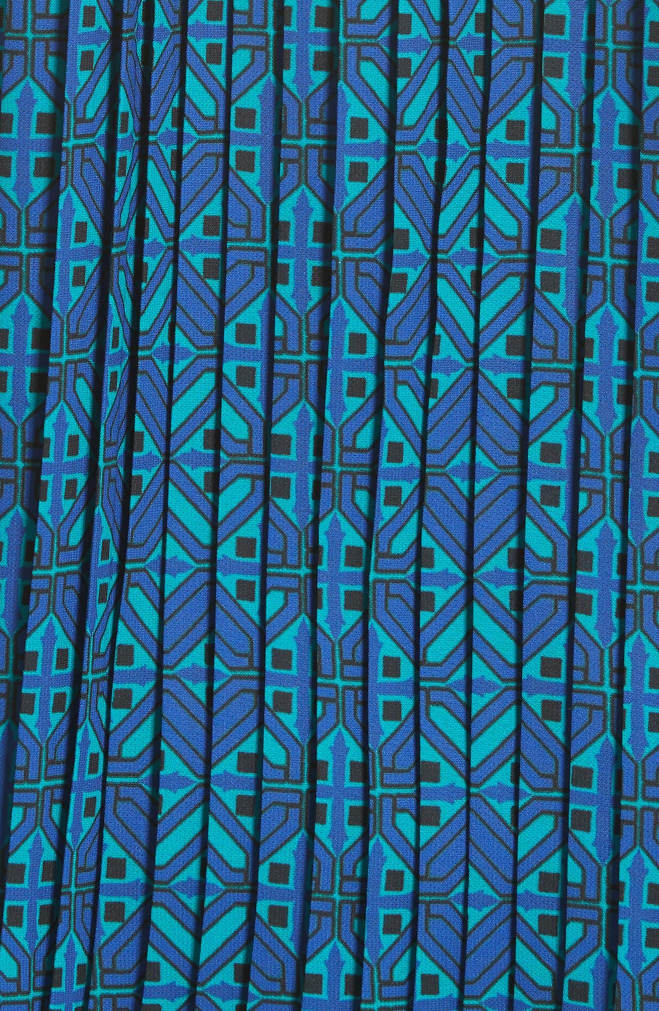 Sarita Tile Print Jersey Knit Sweater,                             Alternate thumbnail 3, color,                             Azurite Multi
