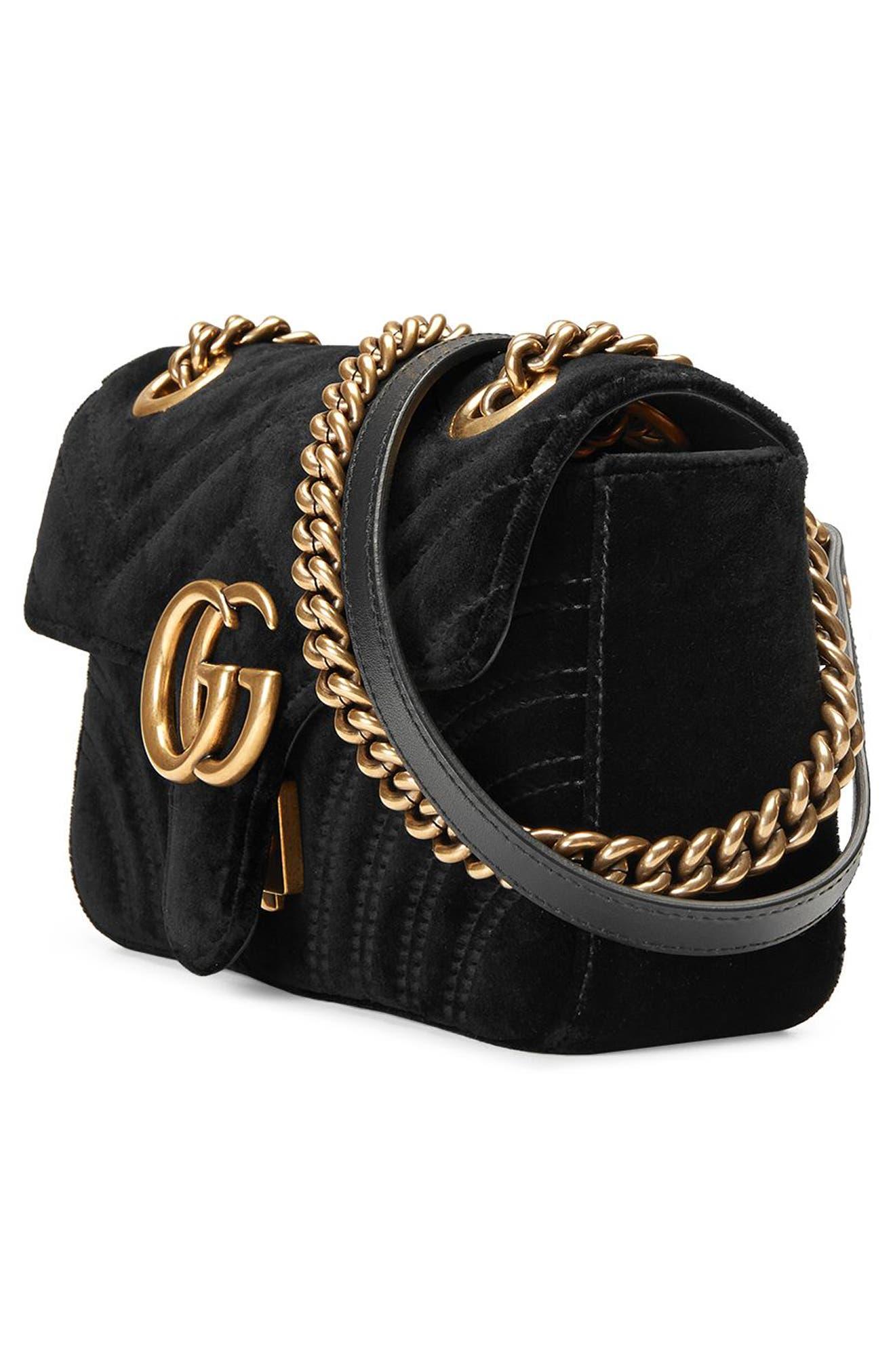 Alternate Image 6  - Gucci Small GG Marmont 2.0 Matelassé Velvet Shoulder Bag