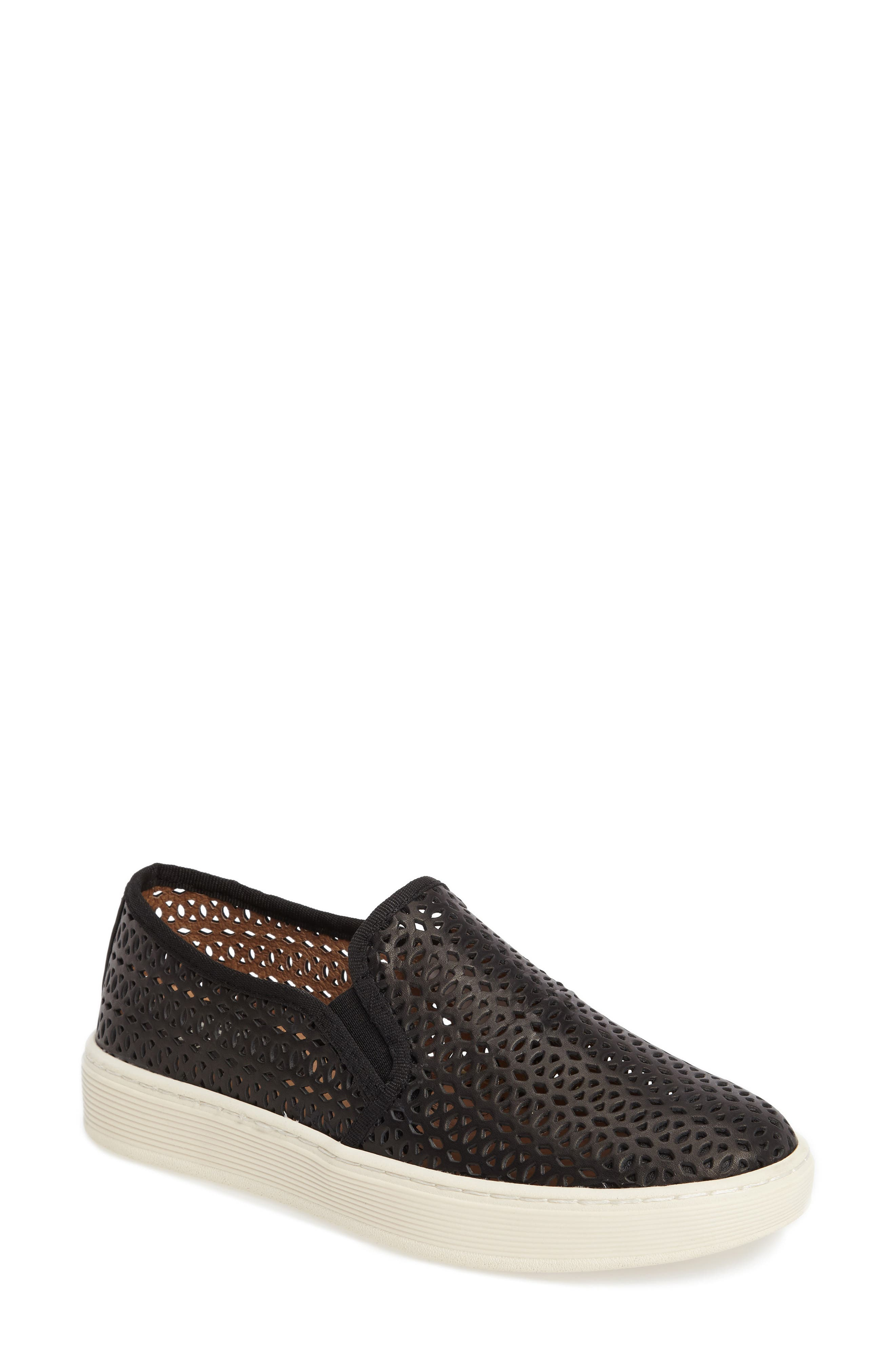 Somers II Slip-on Sneaker,                         Main,                         color, Black Perforated Leather