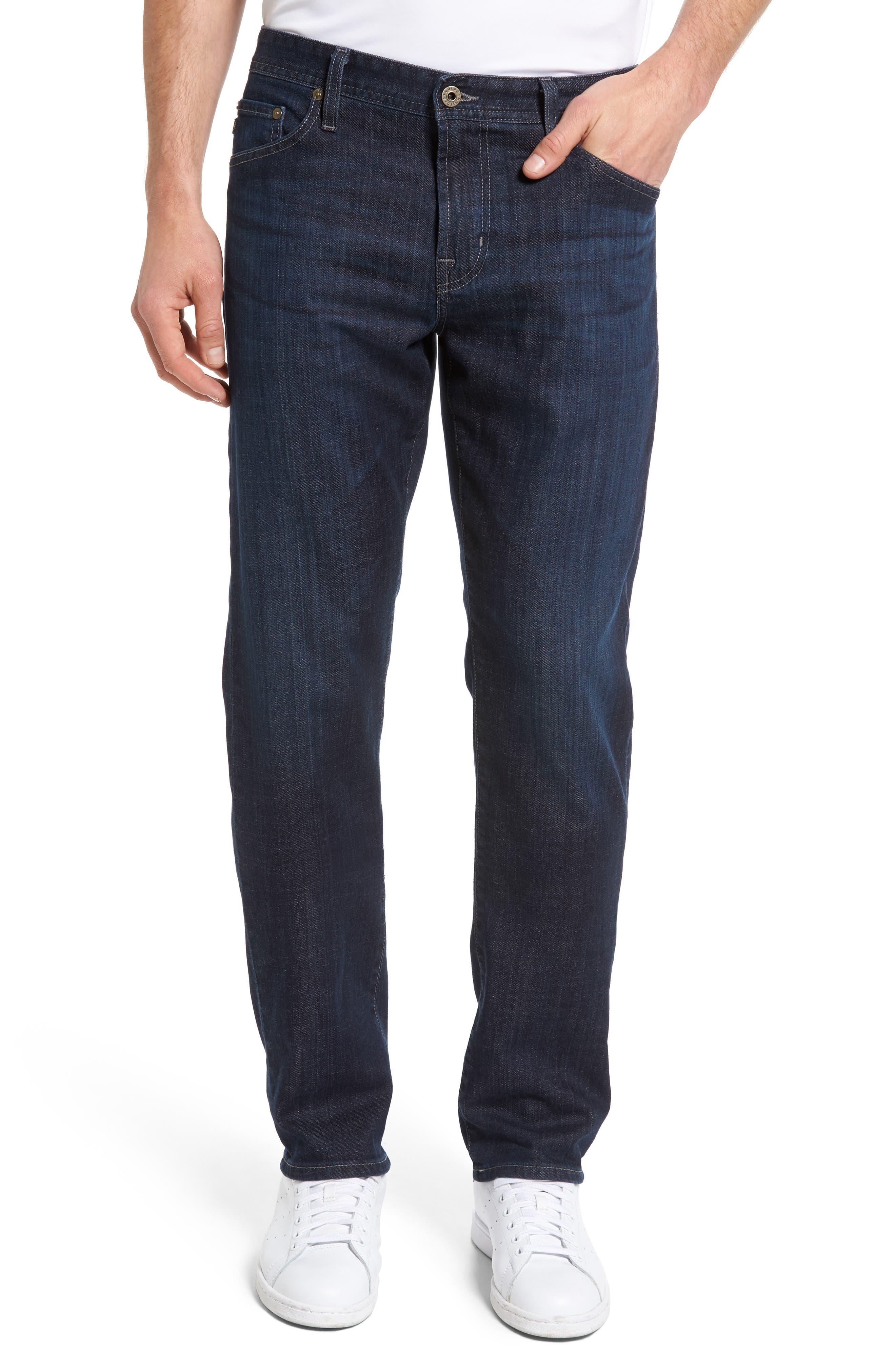 Alternate Image 1 Selected - AG Graduate Slim Straight Leg Jeans (Balcony) (Regular & Tall)