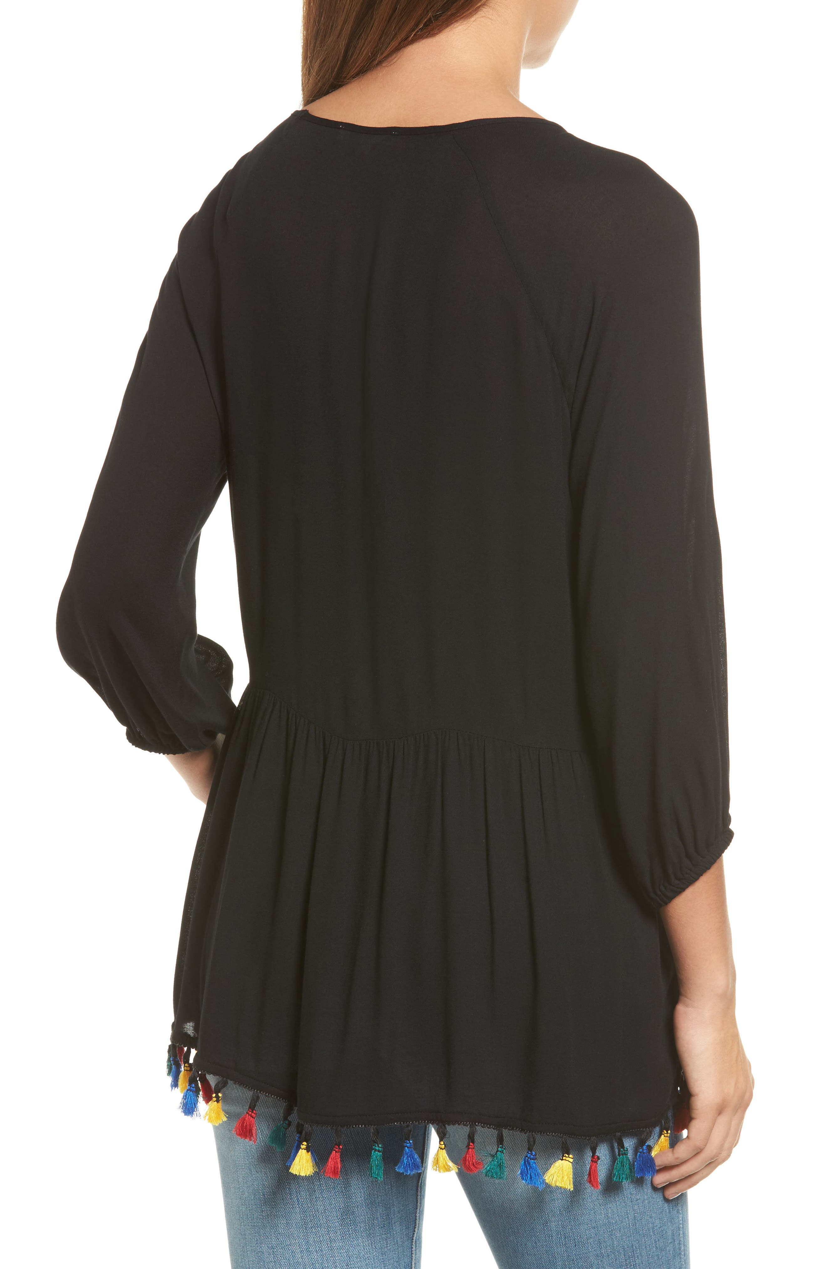 Alternate Image 3  - Pleione Ruffle Tassel Trim Top