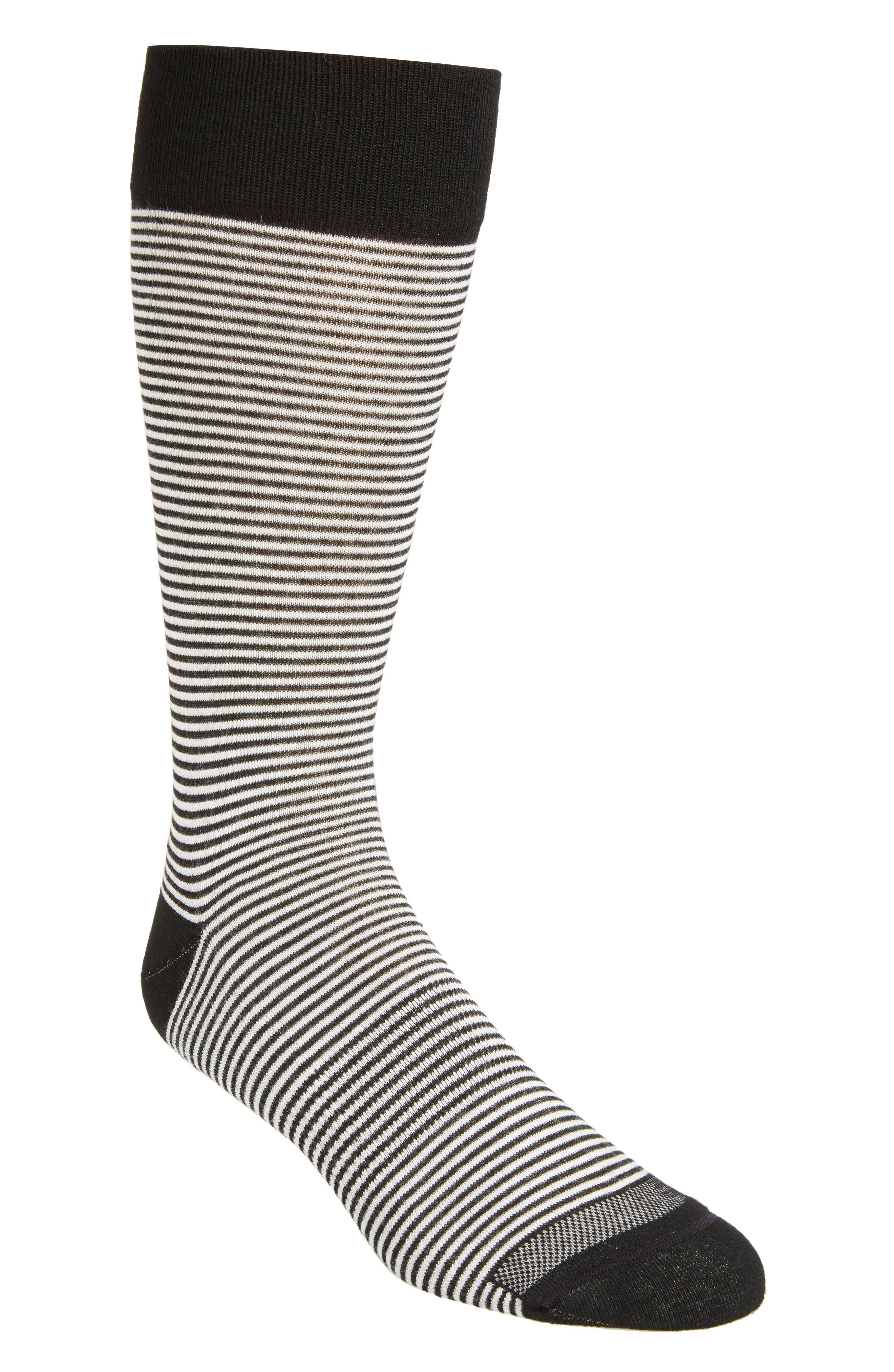 Nordstrom Men's Shop Feeder Stripe Socks (3 for $30)
