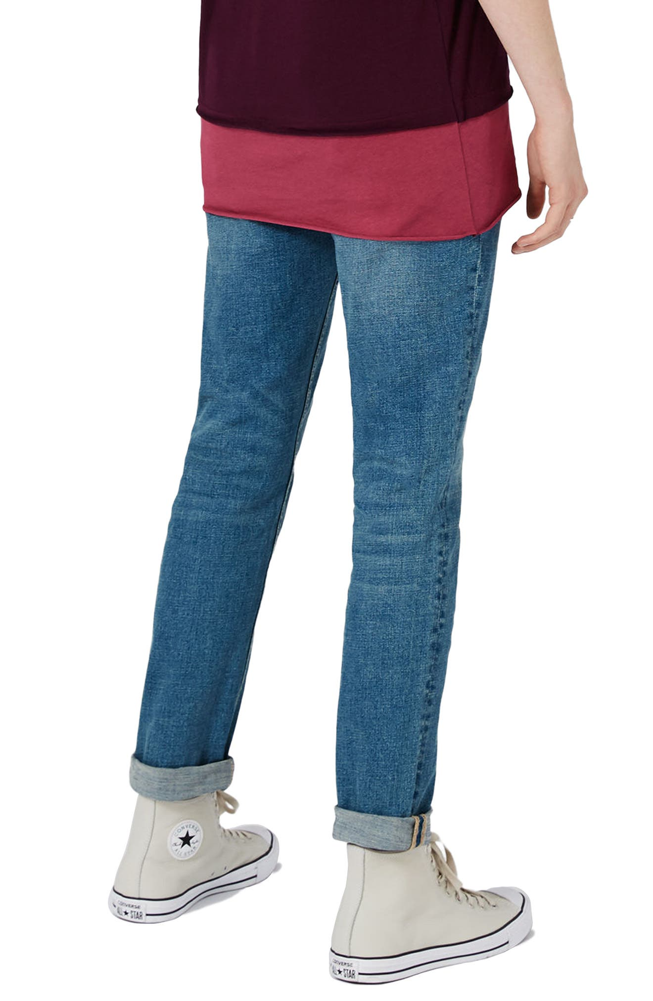 Stretch Slim Fit Jeans,                             Alternate thumbnail 3, color,                             Blue