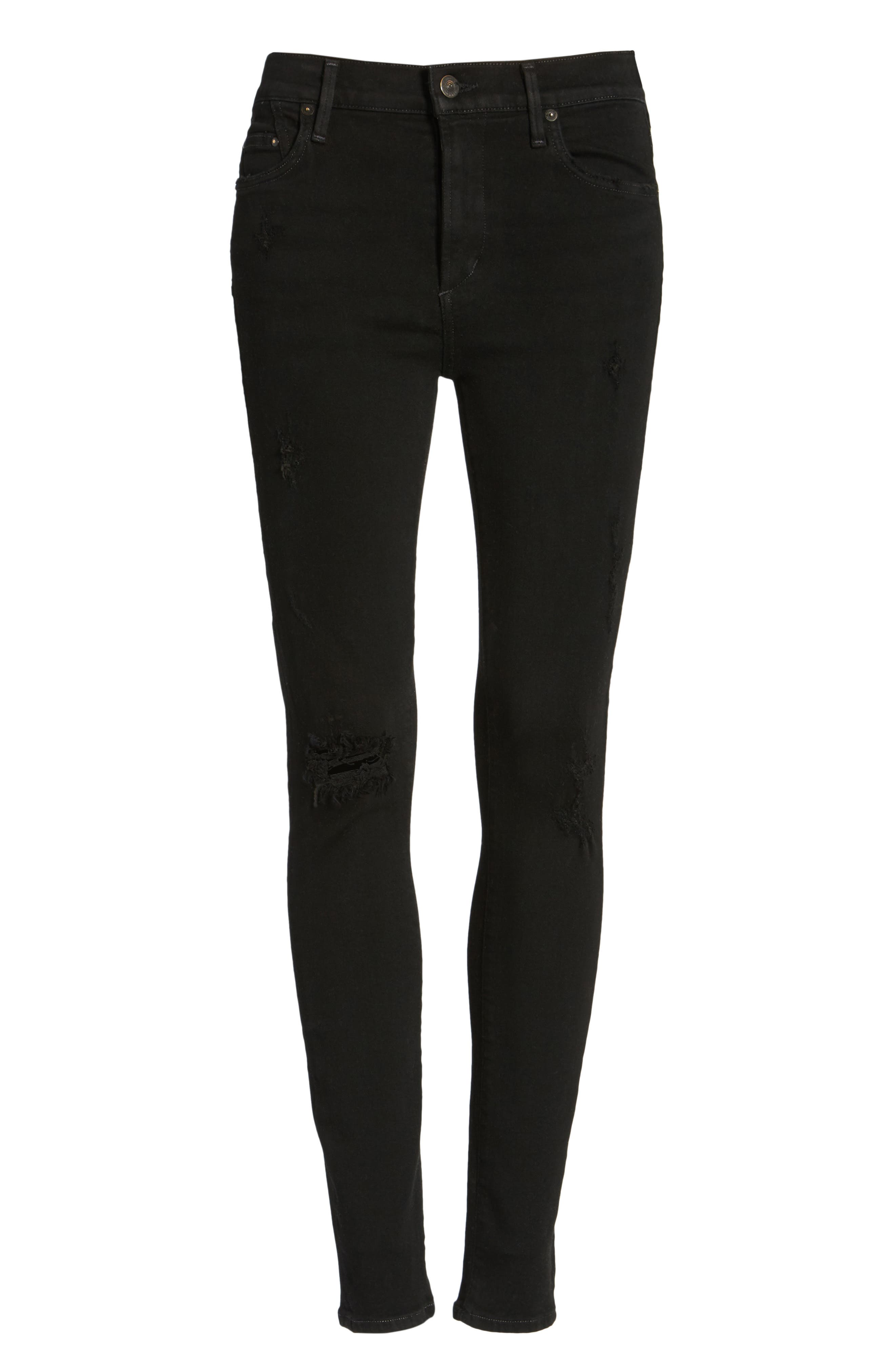 Alternate Image 6  - Citizens of Humanity Rocket High Waist Skinny Jeans (Black Echoes)