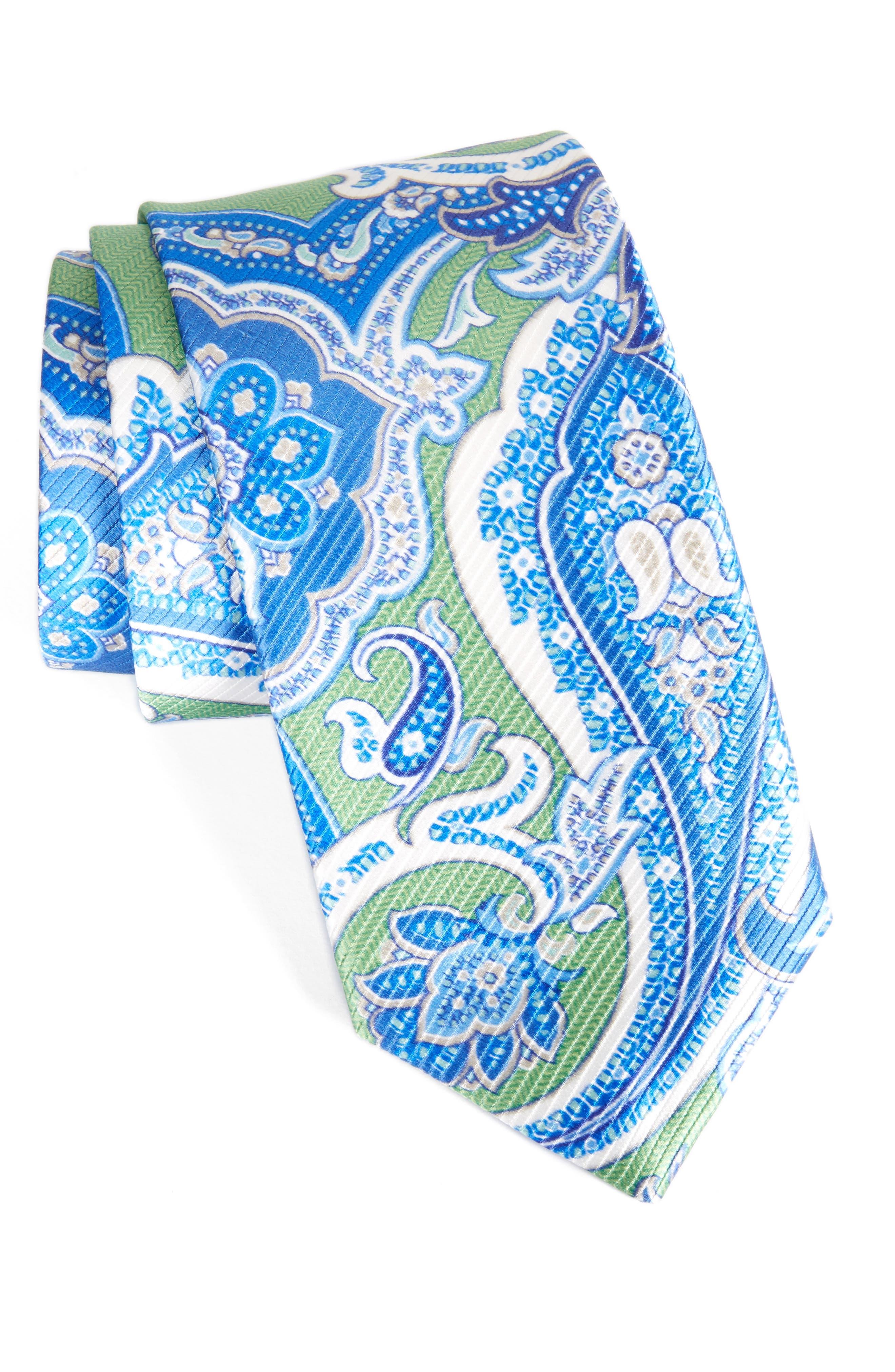 DAVID DONAHUE David Donhaue Paisley Silk Tie