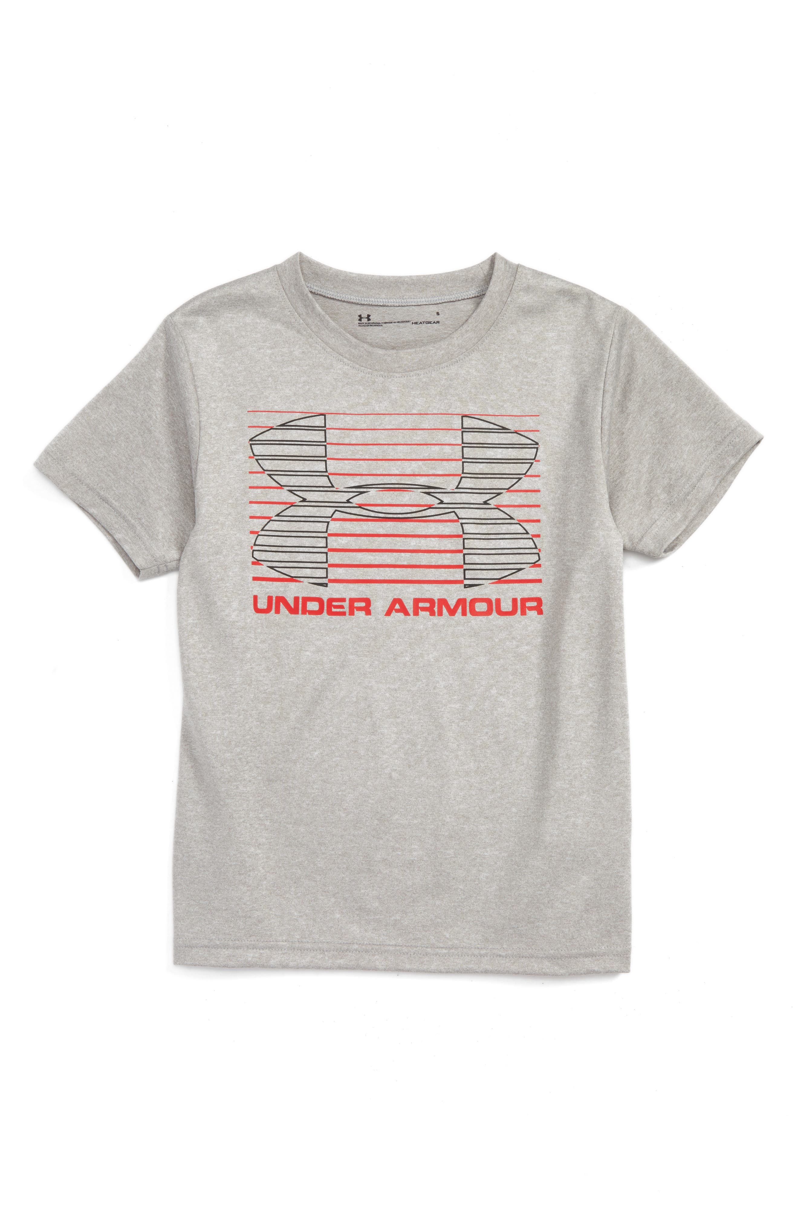 Under Armour Logo Lines Graphic HeatGear® T-Shirt (Toddler Boys & Little Boys)