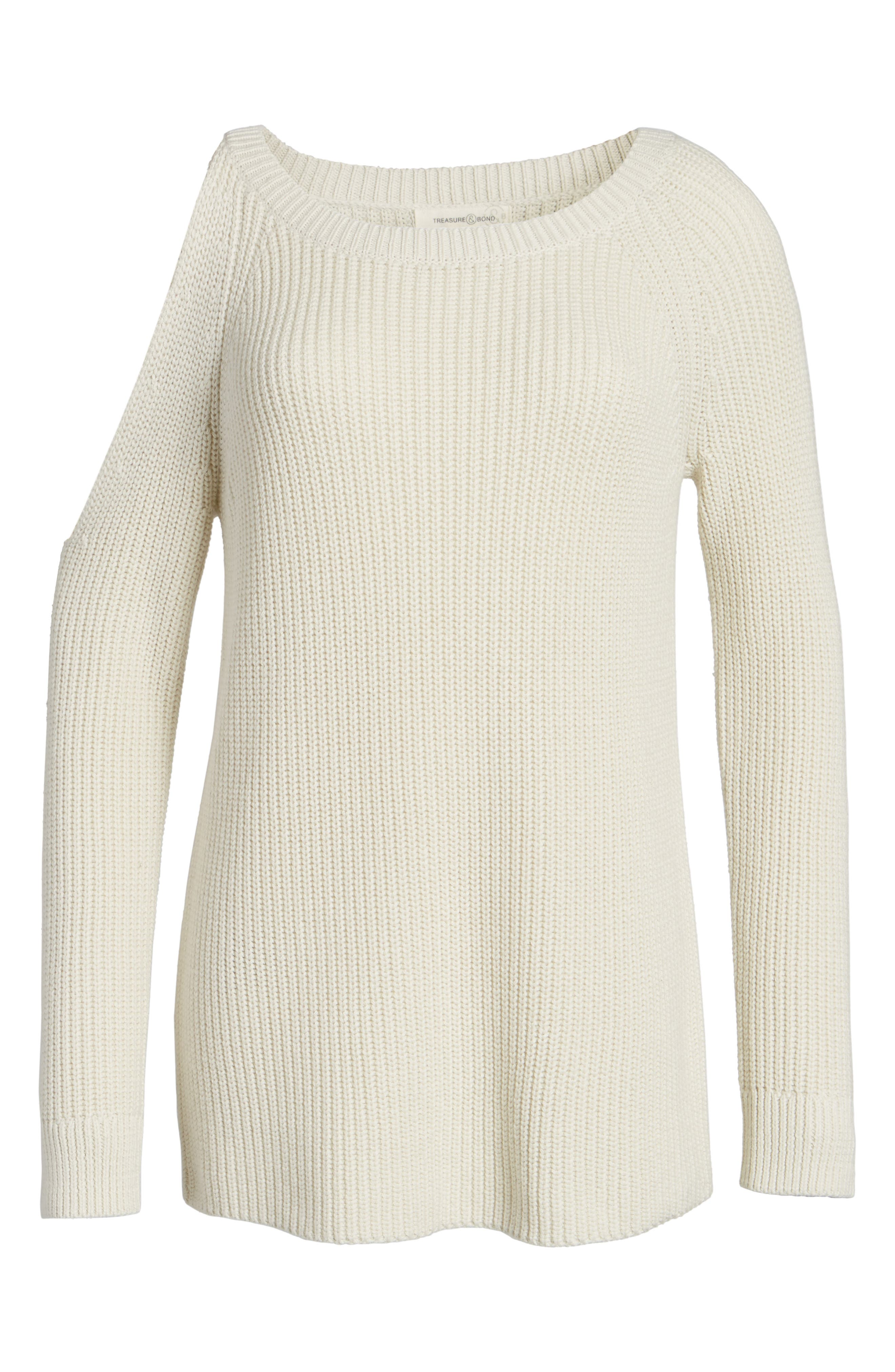 Alternate Image 6  - Treasure & Bond Asymmetrical Cold Shoulder Sweater