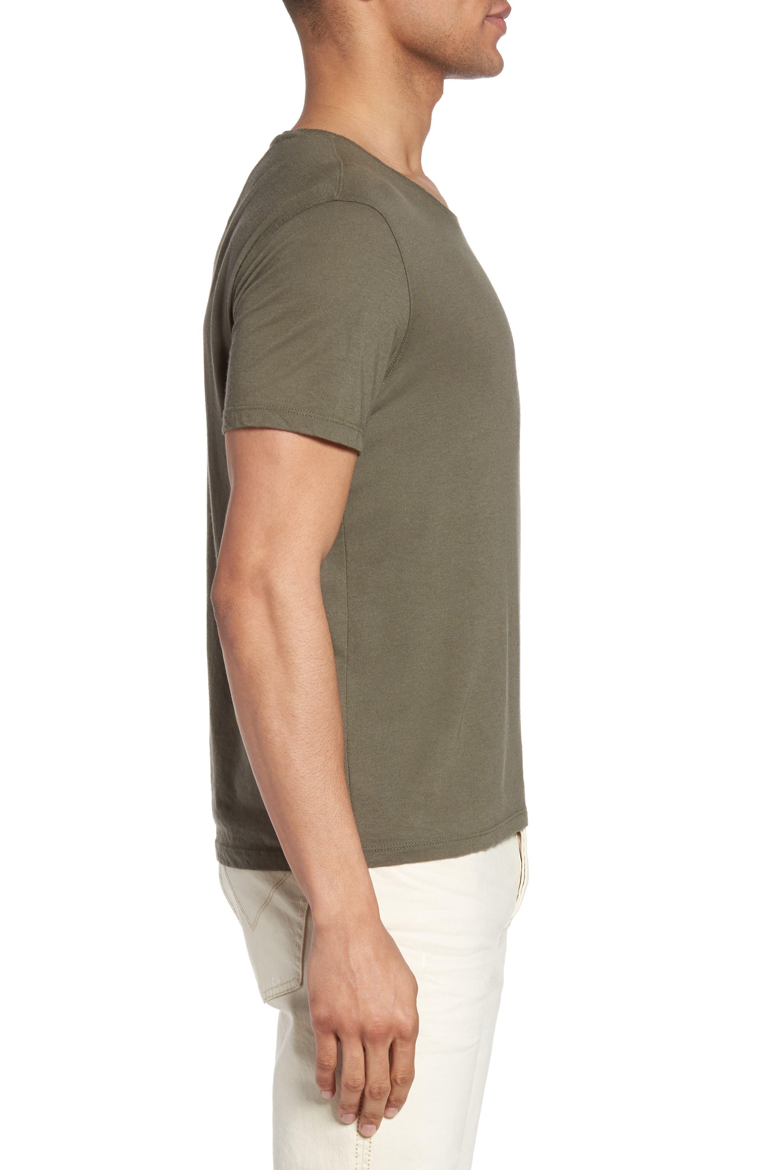 Fleur De Lis Graphic T-Shirt,                             Alternate thumbnail 3, color,                             Tent Green