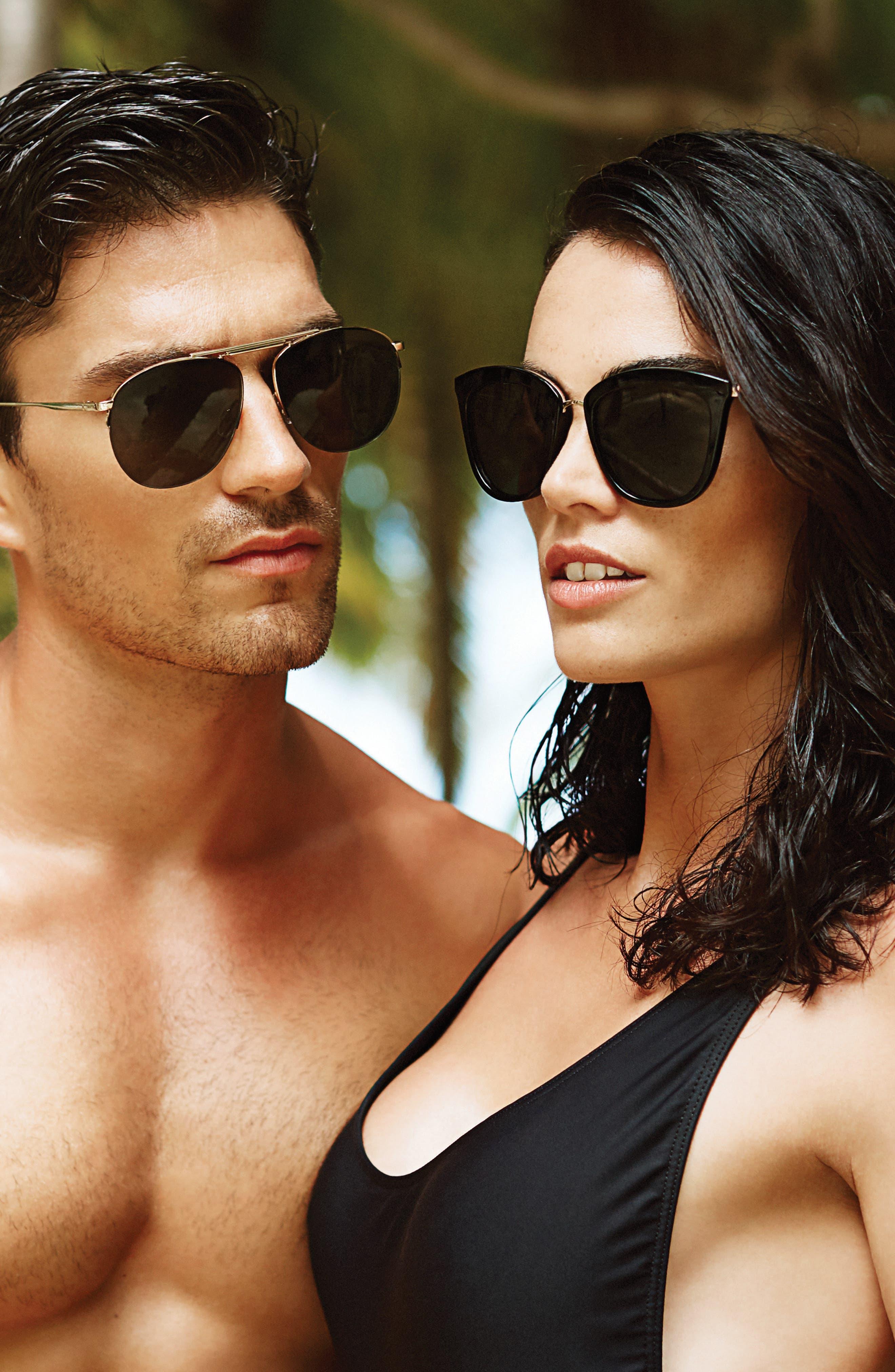 Alternate Image 4  - Le Specs Caliente 53mm Cat Eye Sunglasses