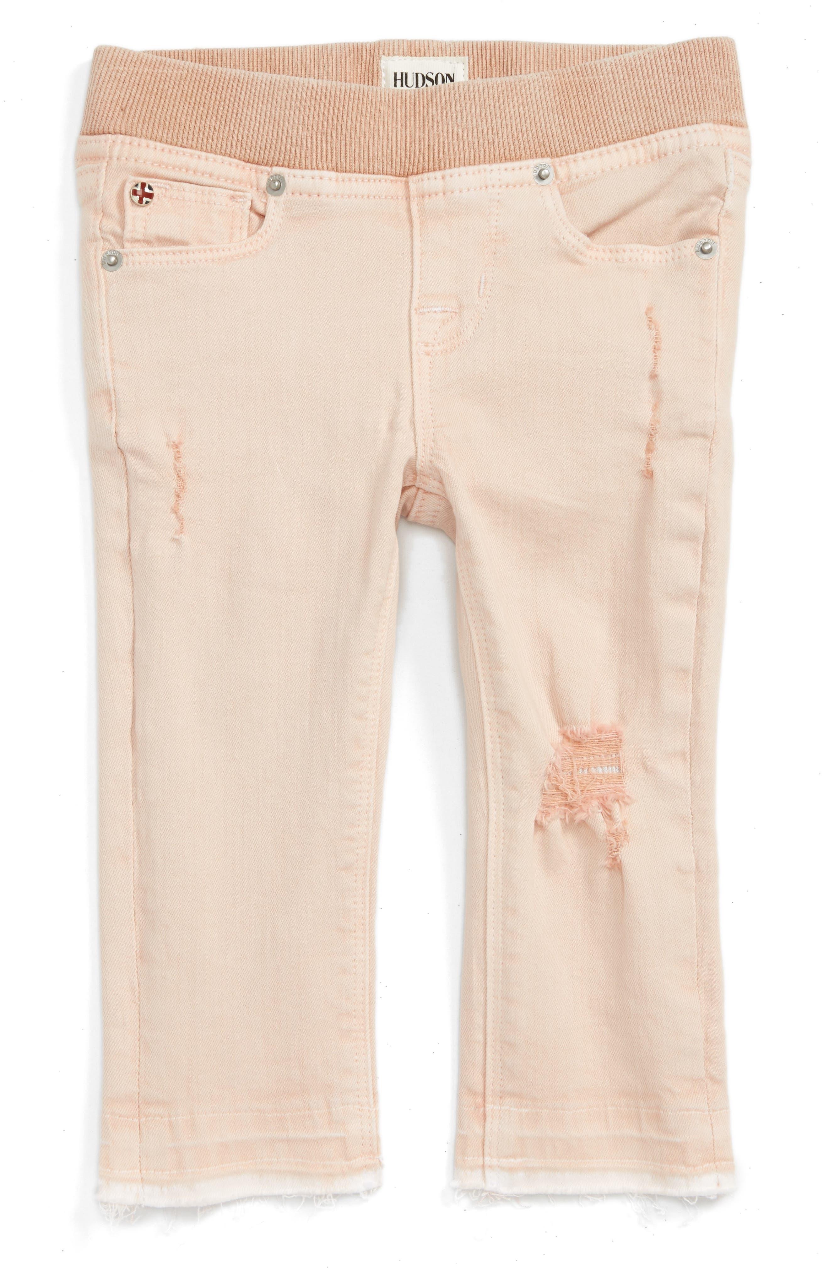 Hudson Kids Distressed Released Hem Skinny Jeans (Baby Girls)