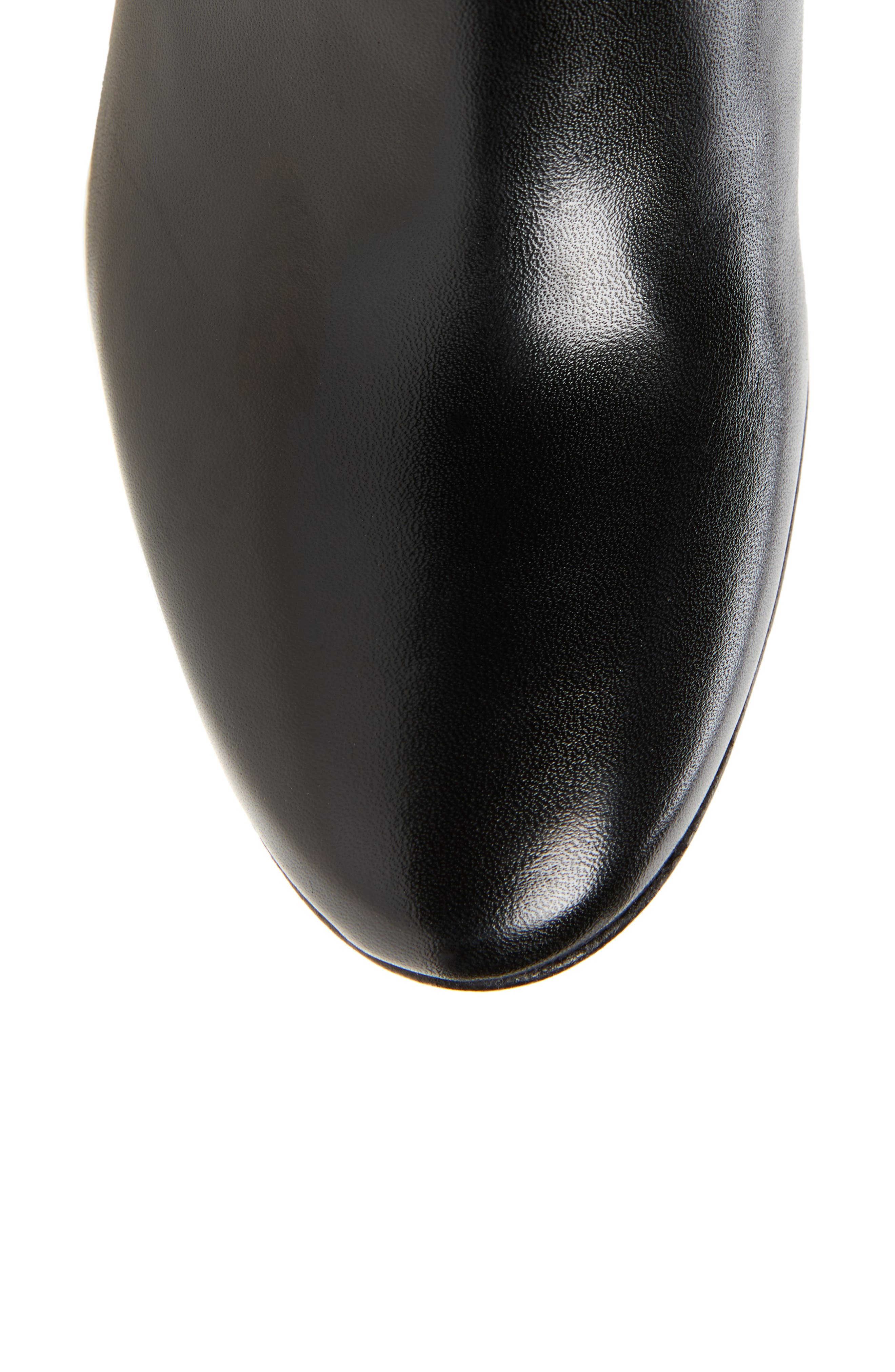 Clarice Over the Knee Boot,                             Alternate thumbnail 4, color,                             Black Leather