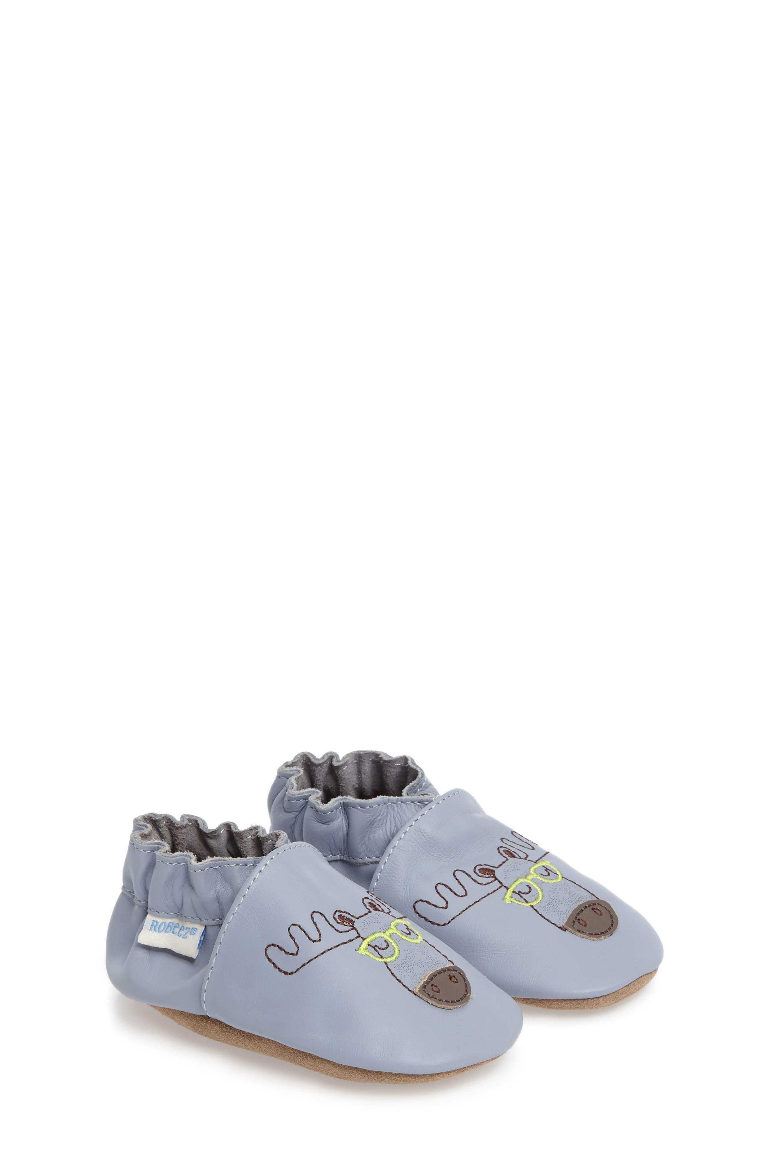 Robeez® Moose Handsome Crib Shoe (Baby)