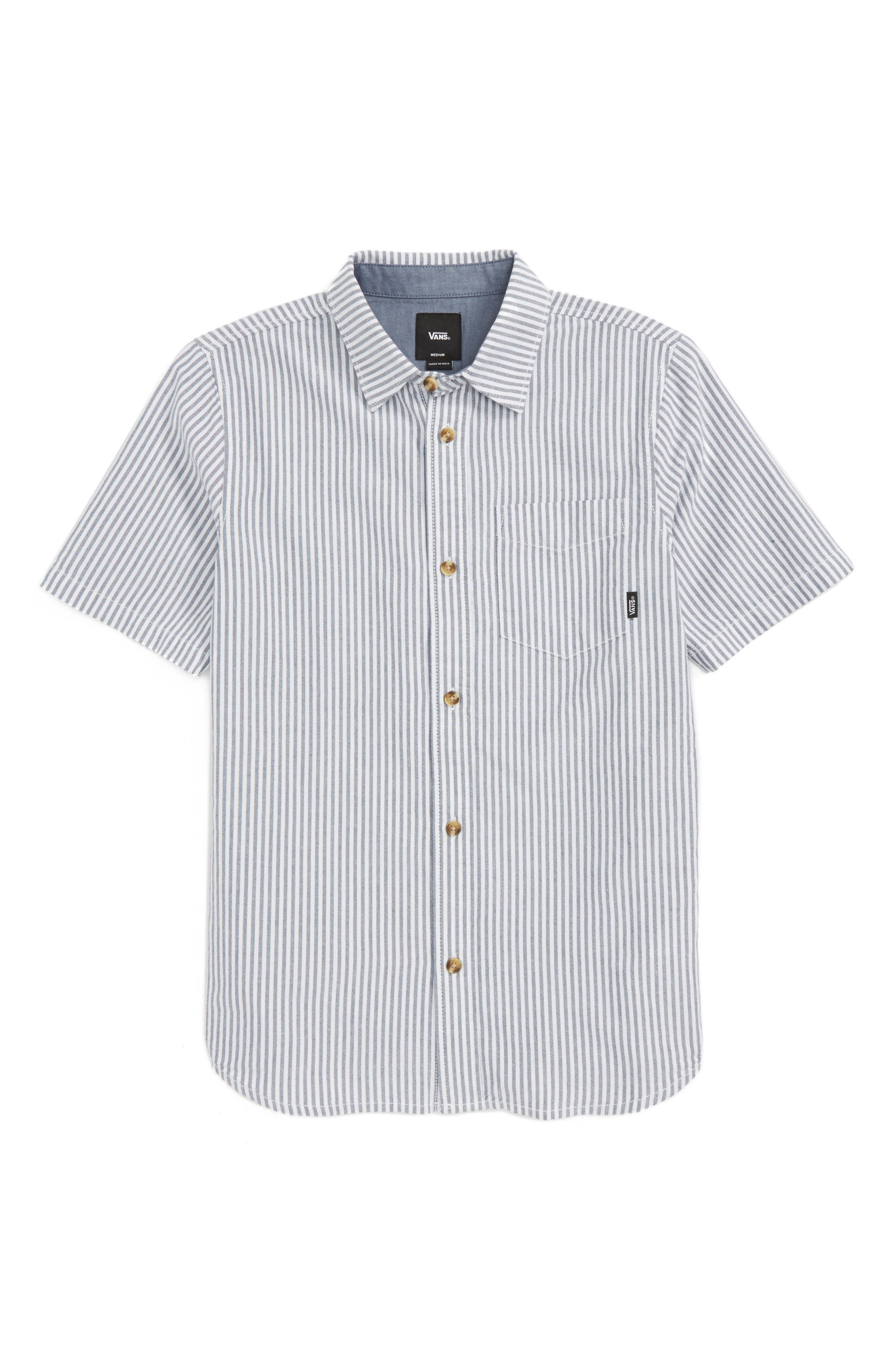 Vans Houser Stripe Cotton Woven Shirt (Big Boys)