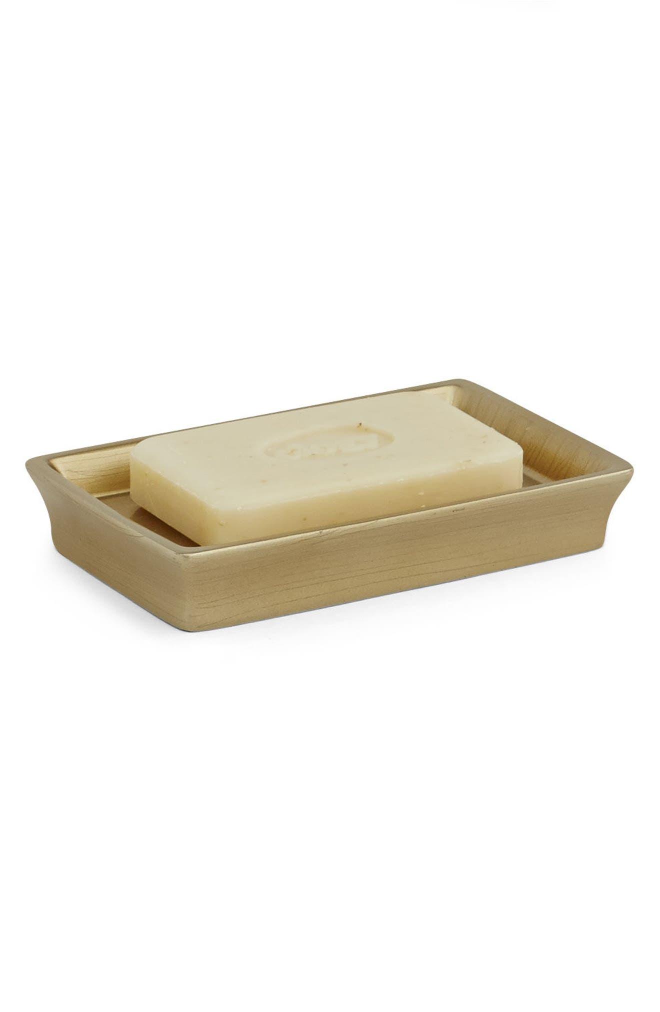 Cooper Soap Dish,                             Alternate thumbnail 2, color,                             Brushed Gold