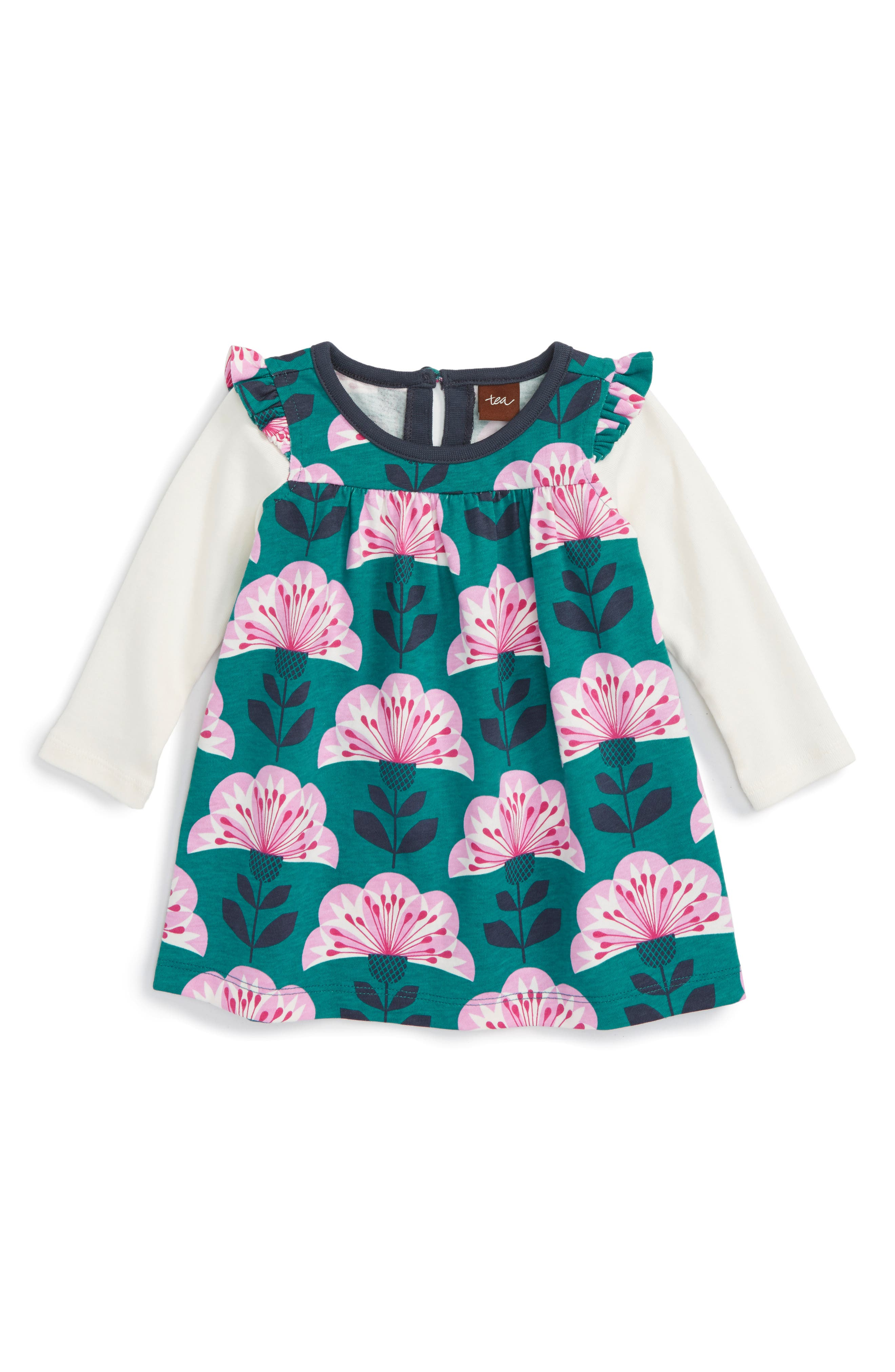 Alternate Image 1 Selected - Tea Collection Double Decker Dress (Baby Girls)