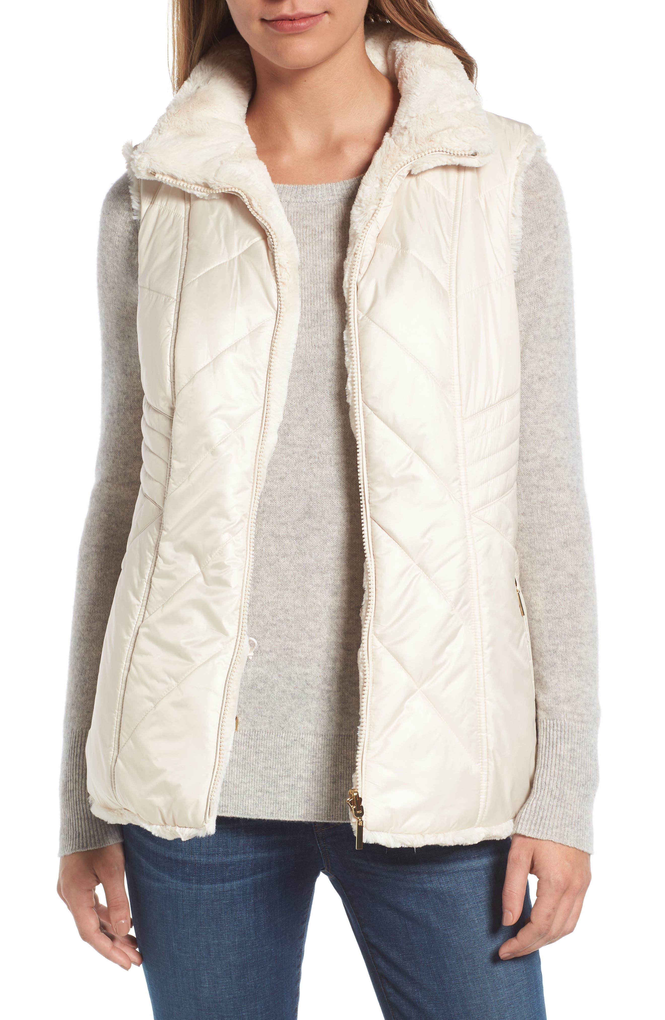 Main Image - Gallery Reversible Faux Fur Vest