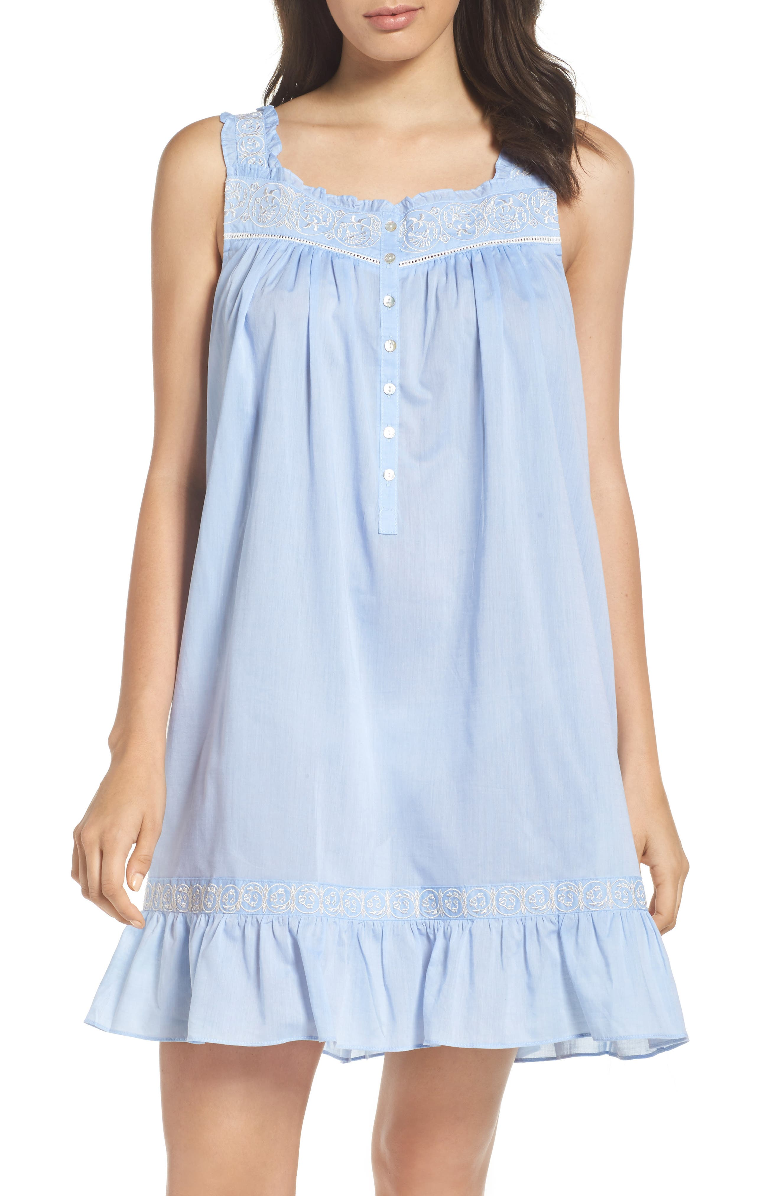EILEEN WEST Chambray Chemise
