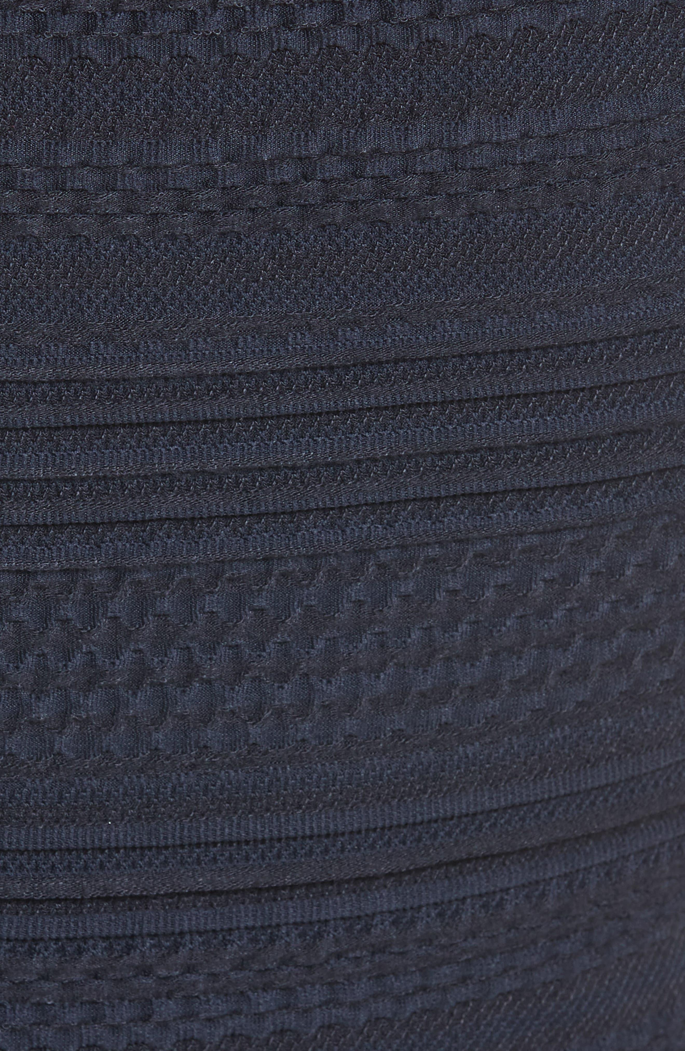 Off the Shoulder Textured Knit Dress,                             Alternate thumbnail 5, color,                             Navy