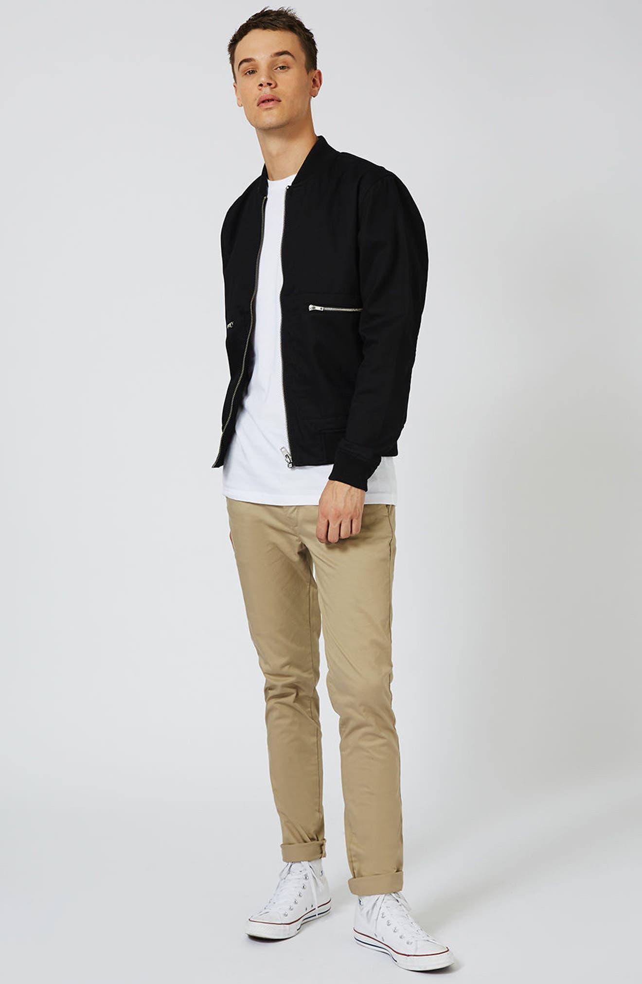Roller Sleeve T-Shirt,                             Alternate thumbnail 2, color,                             White