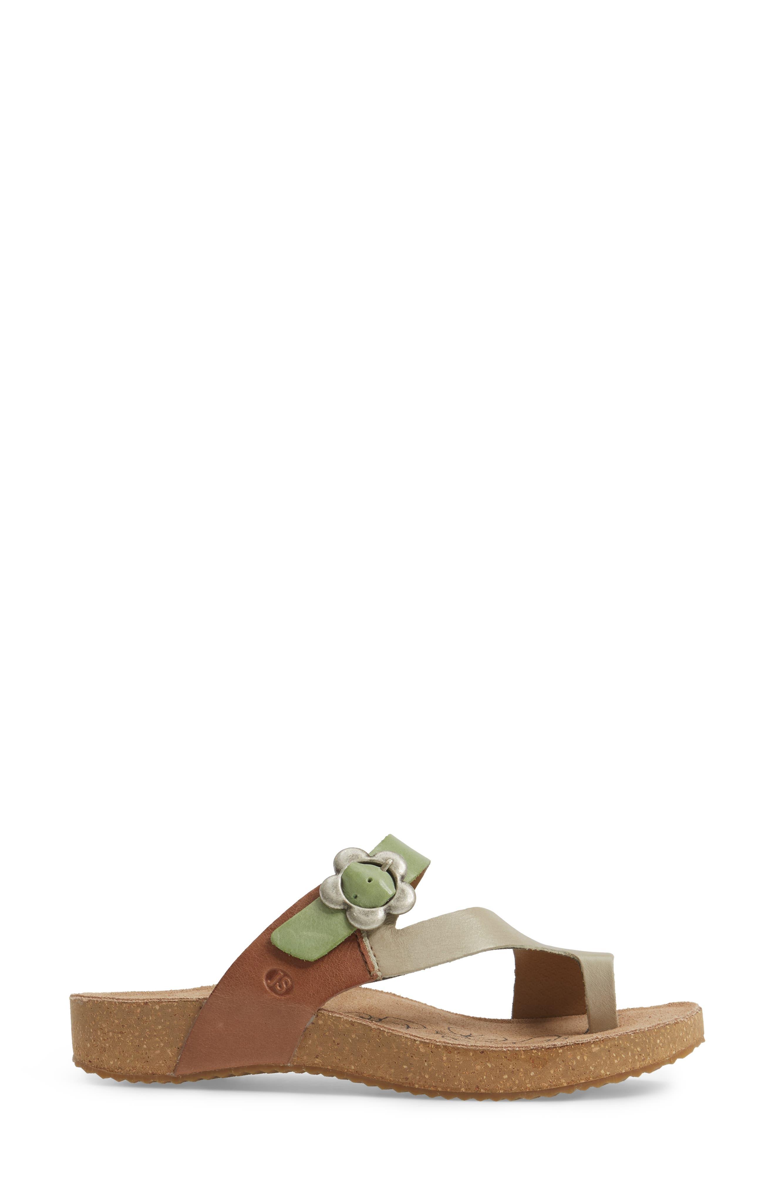 Tonga 23 Sandal,                             Alternate thumbnail 3, color,                             Grey Multi Leather