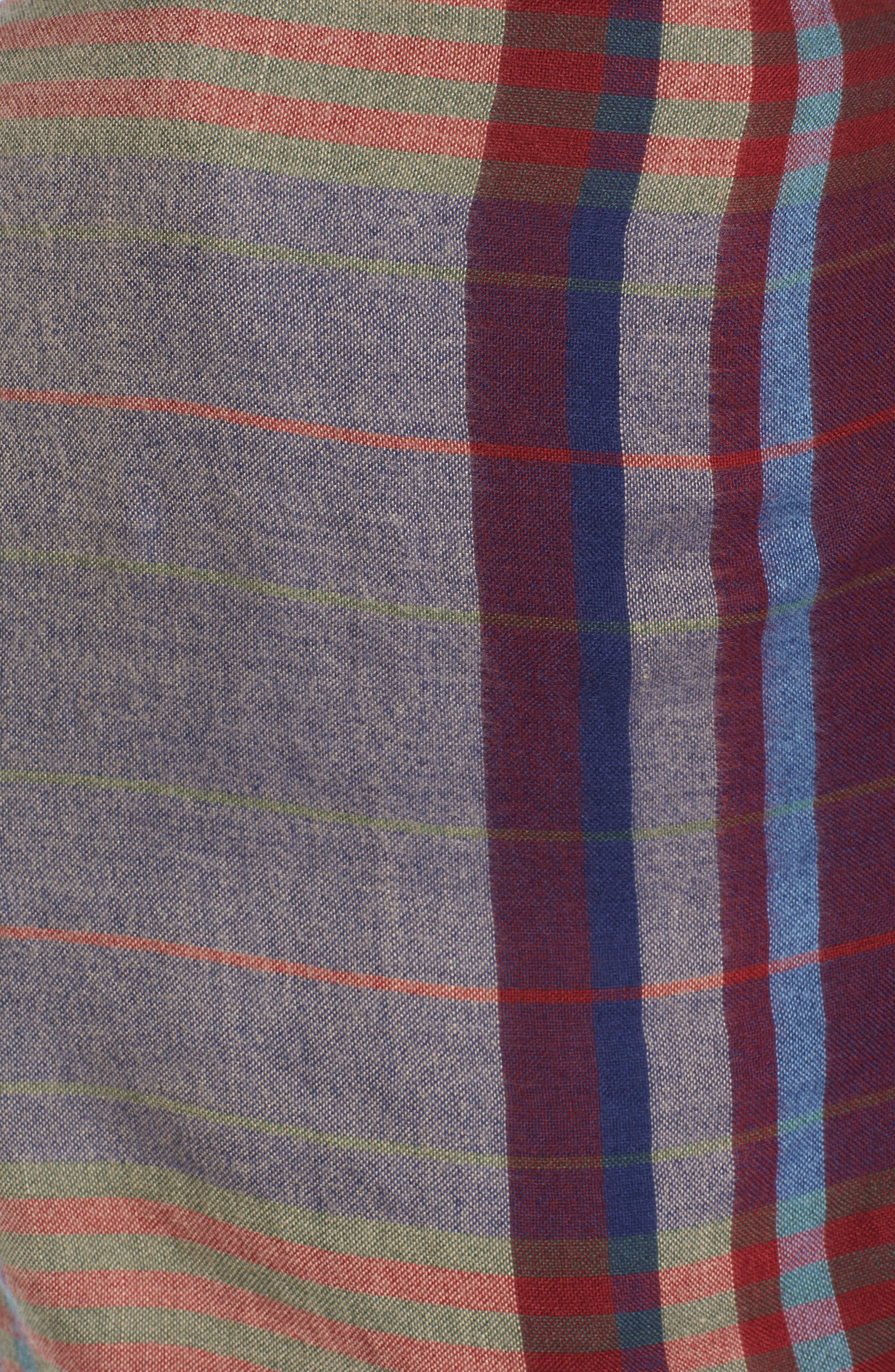 Alternate Image 5  - Treasure & Bond Heritage Plaid Blanket Wrap