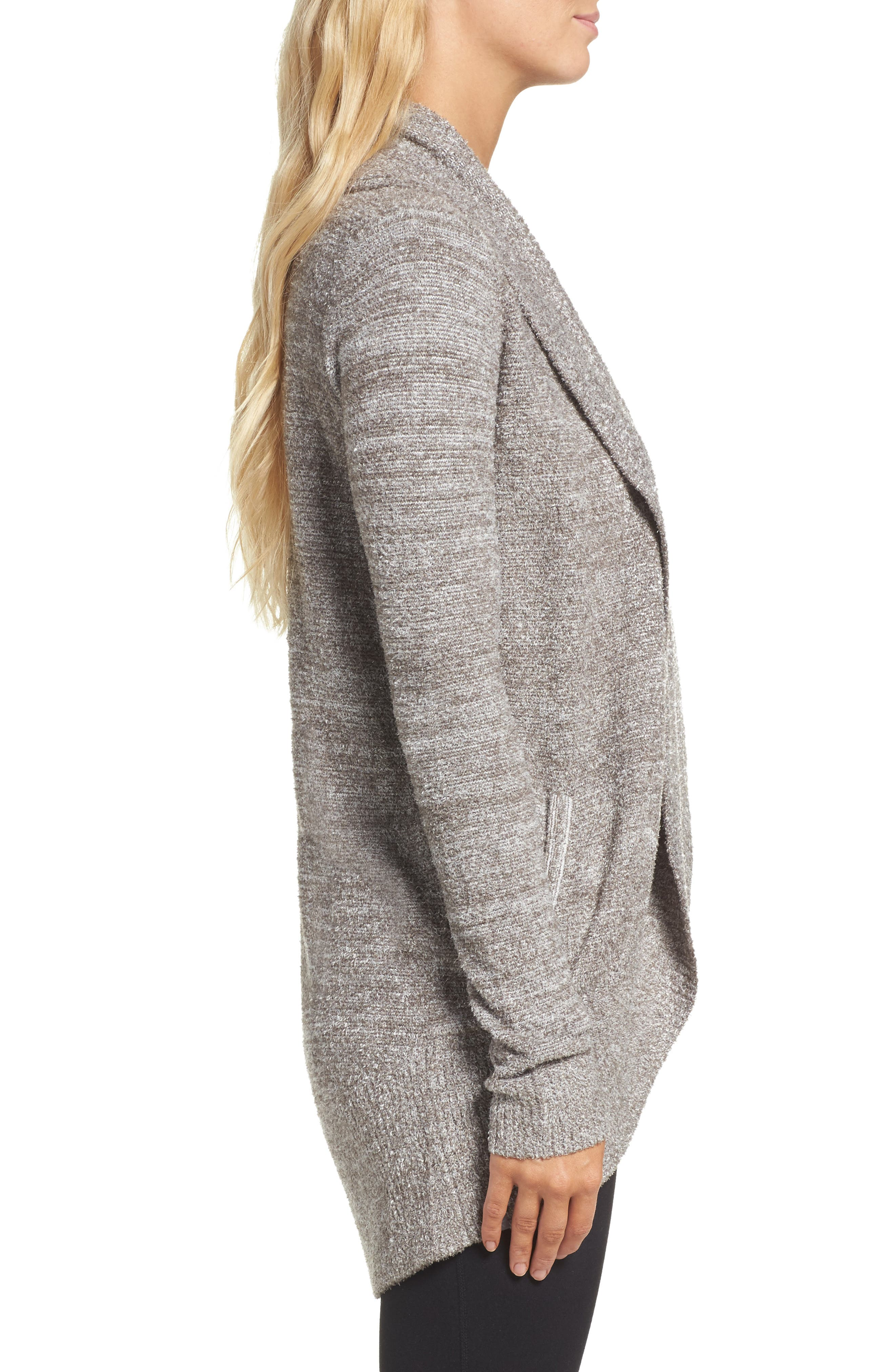 Alternate Image 3  - Barefoot Dreams® CozyChic Lite® Circle Cardigan
