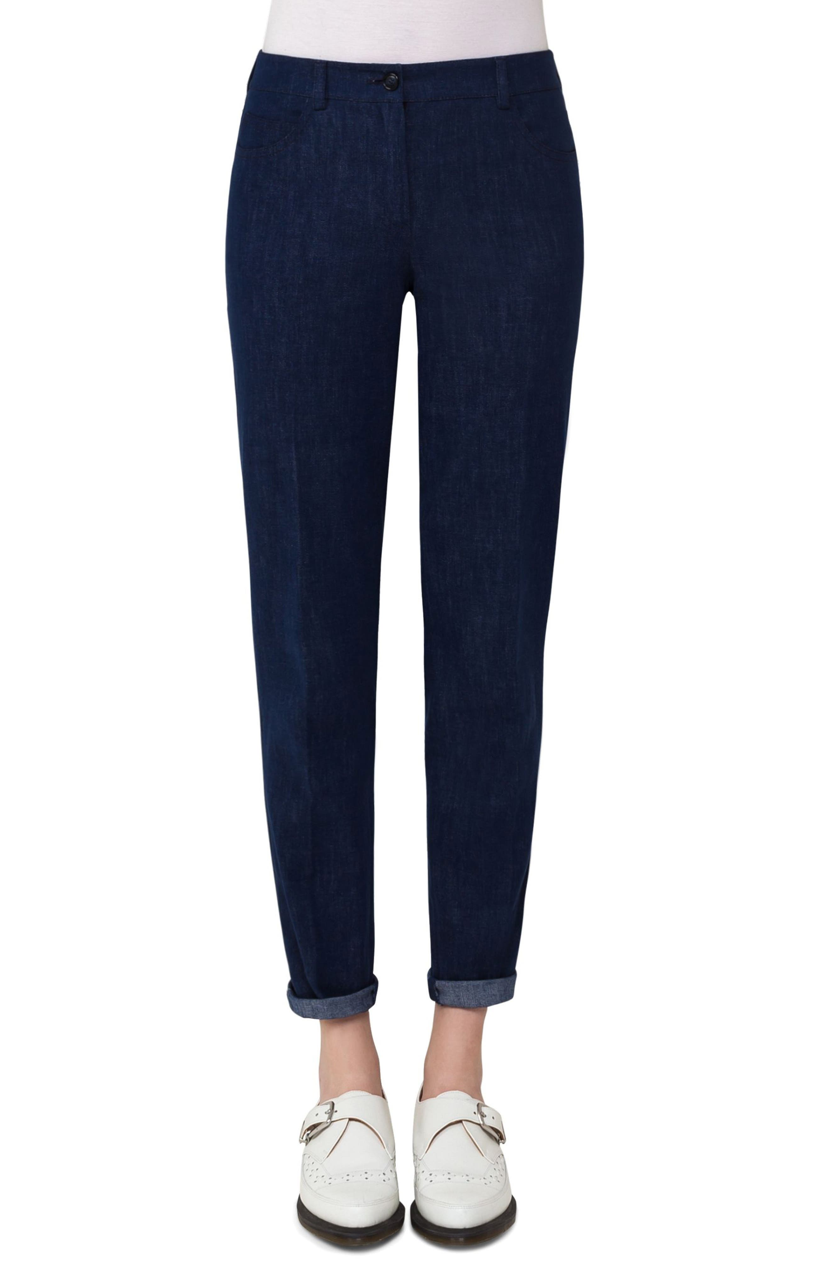 Slim Stretch Denim Pants,                             Main thumbnail 1, color,                             Denim