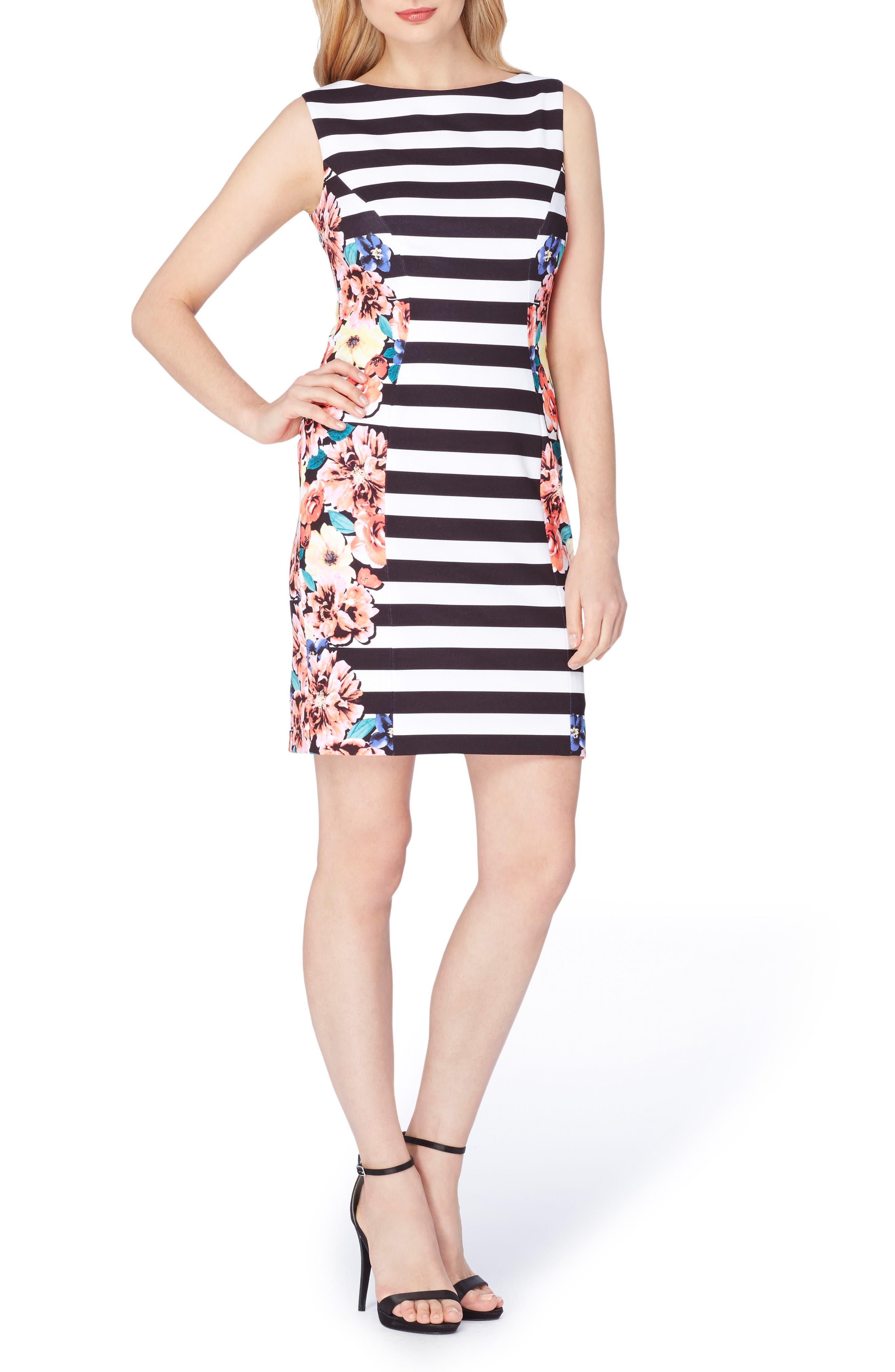 Tahari Scuba Sheath Dress (Regular & Petite)