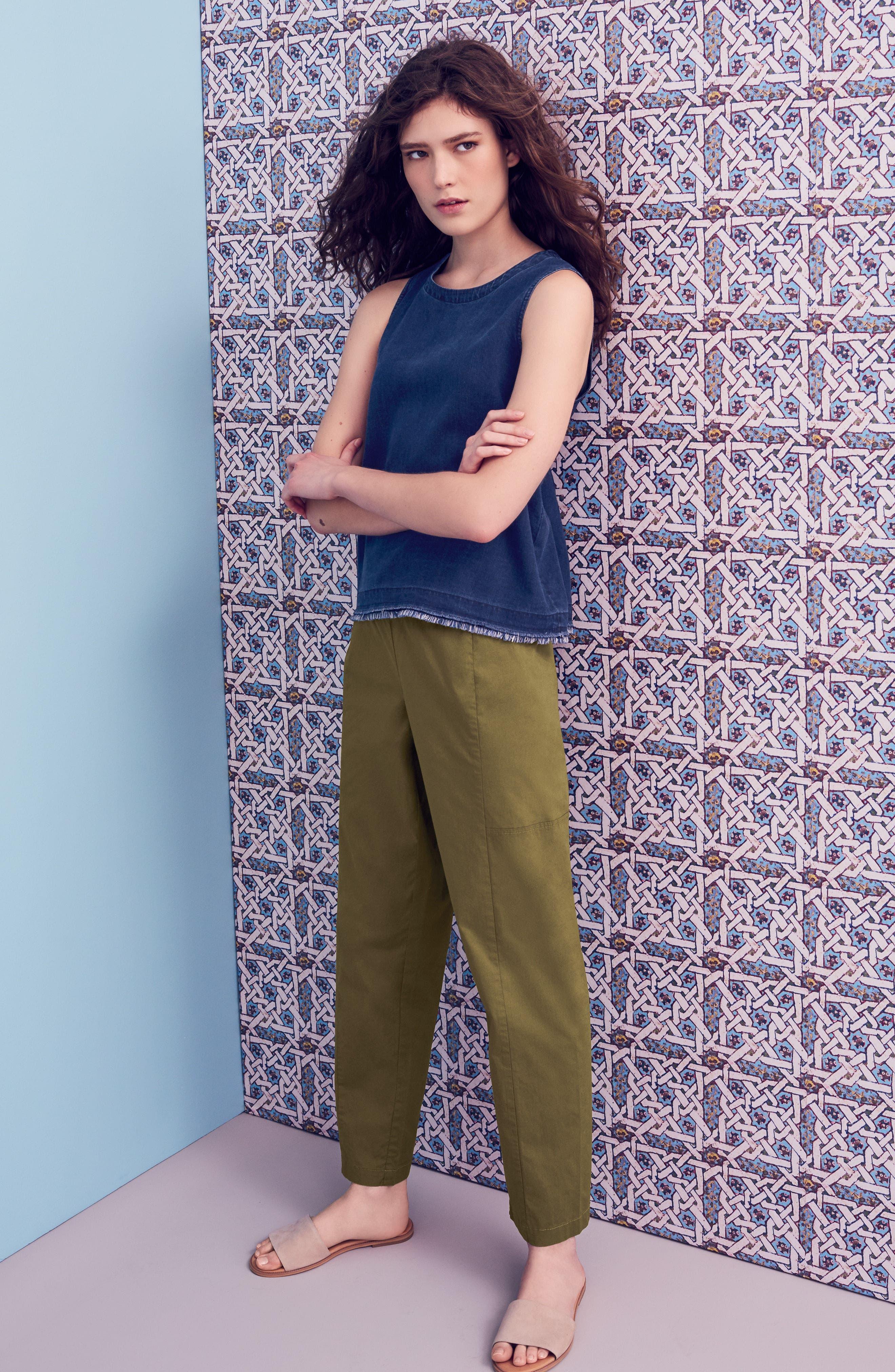 Alternate Image 2  - Eileen Fisher Drawstring Ankle Pants (Regular & Petite)