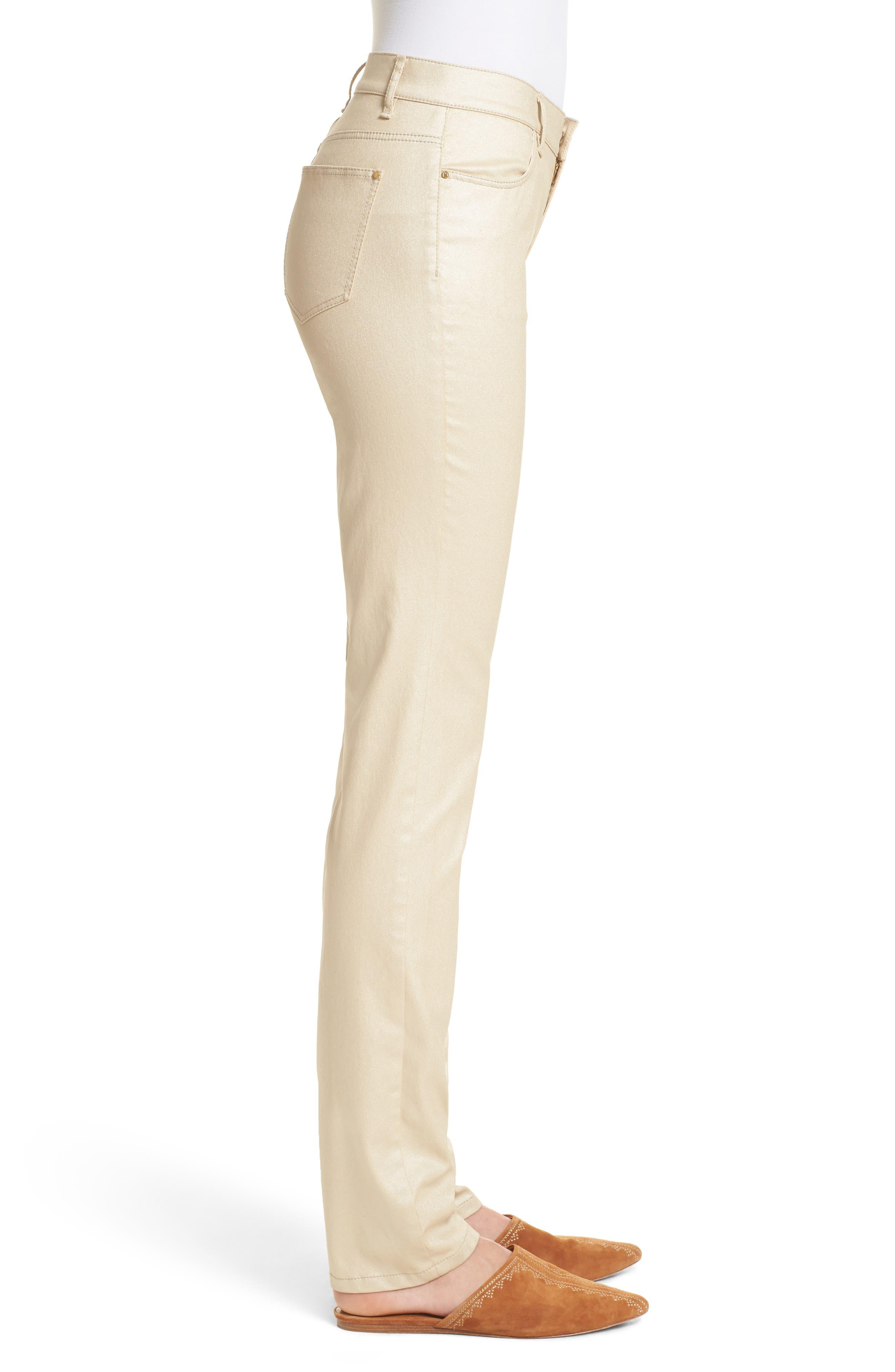 Alternate Image 5  - Lafayette 148 New York Curvy Fit Skinny Jeans (Mason)
