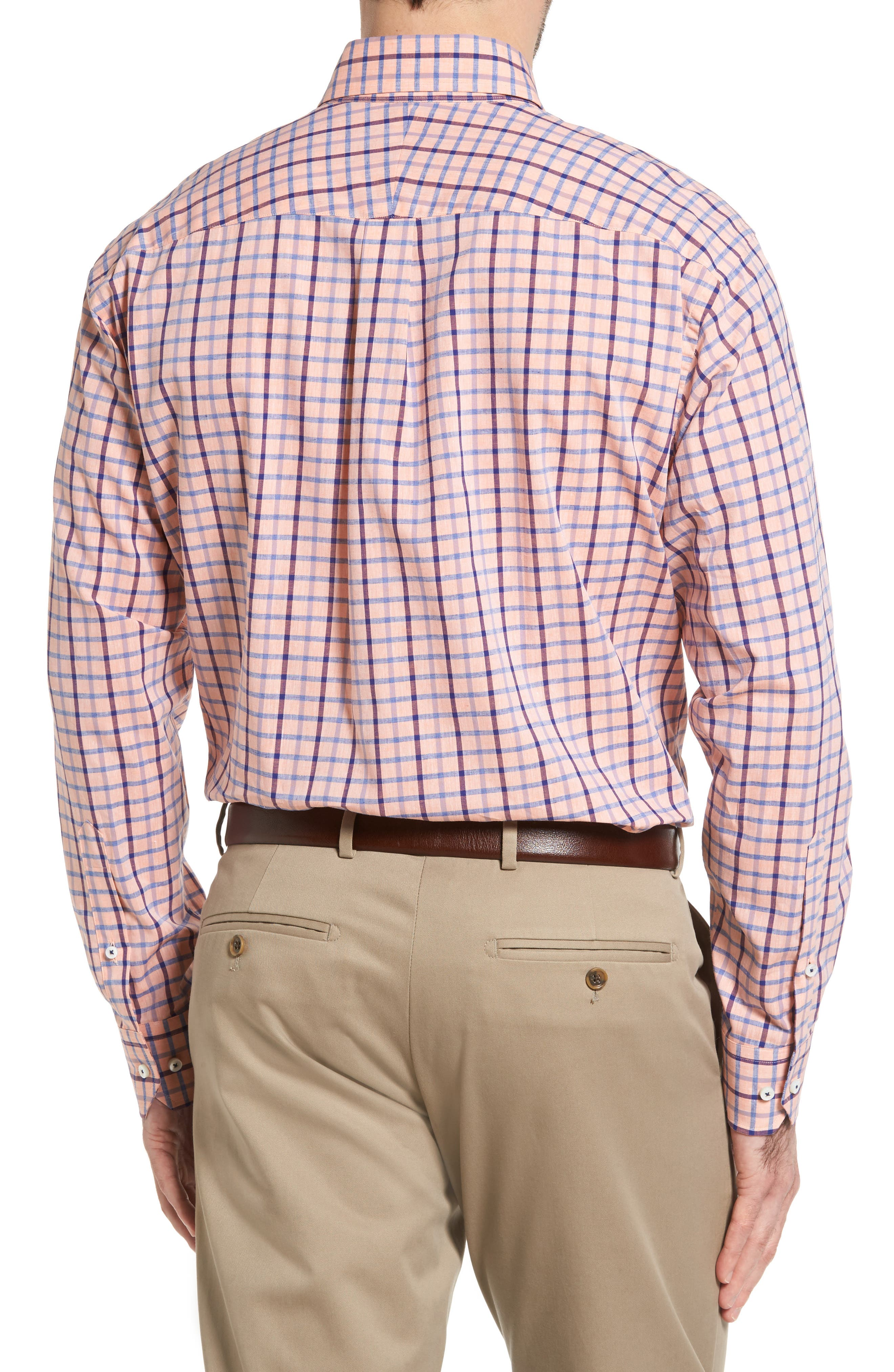 Estate Classic Fit Sport Shirt,                             Alternate thumbnail 2, color,                             Papaya
