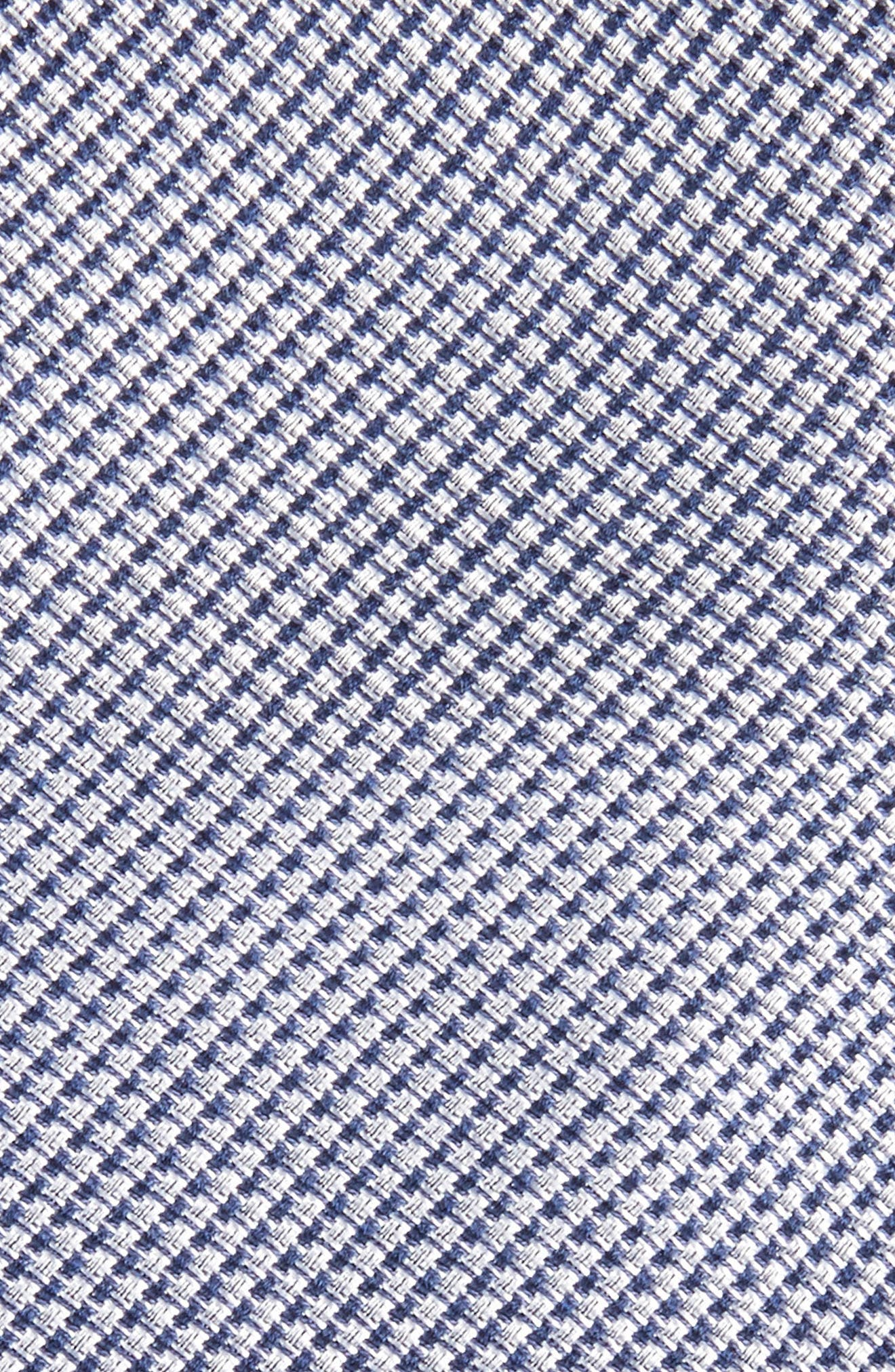 Solid Silk & Cotton Skinny Tie,                             Alternate thumbnail 2, color,                             Navy