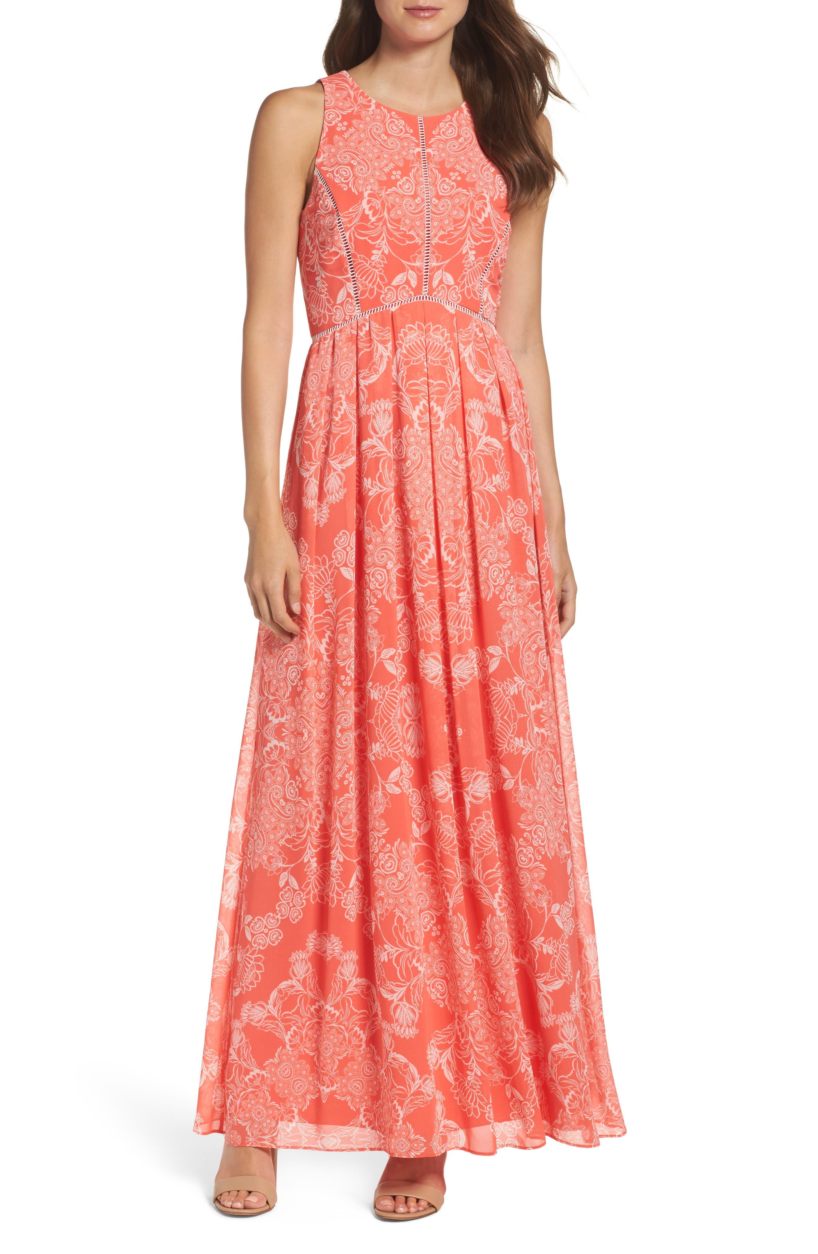 Alternate Image 1 Selected - Vince Camuto Chiffon Maxi Dress (Regular & Petite)