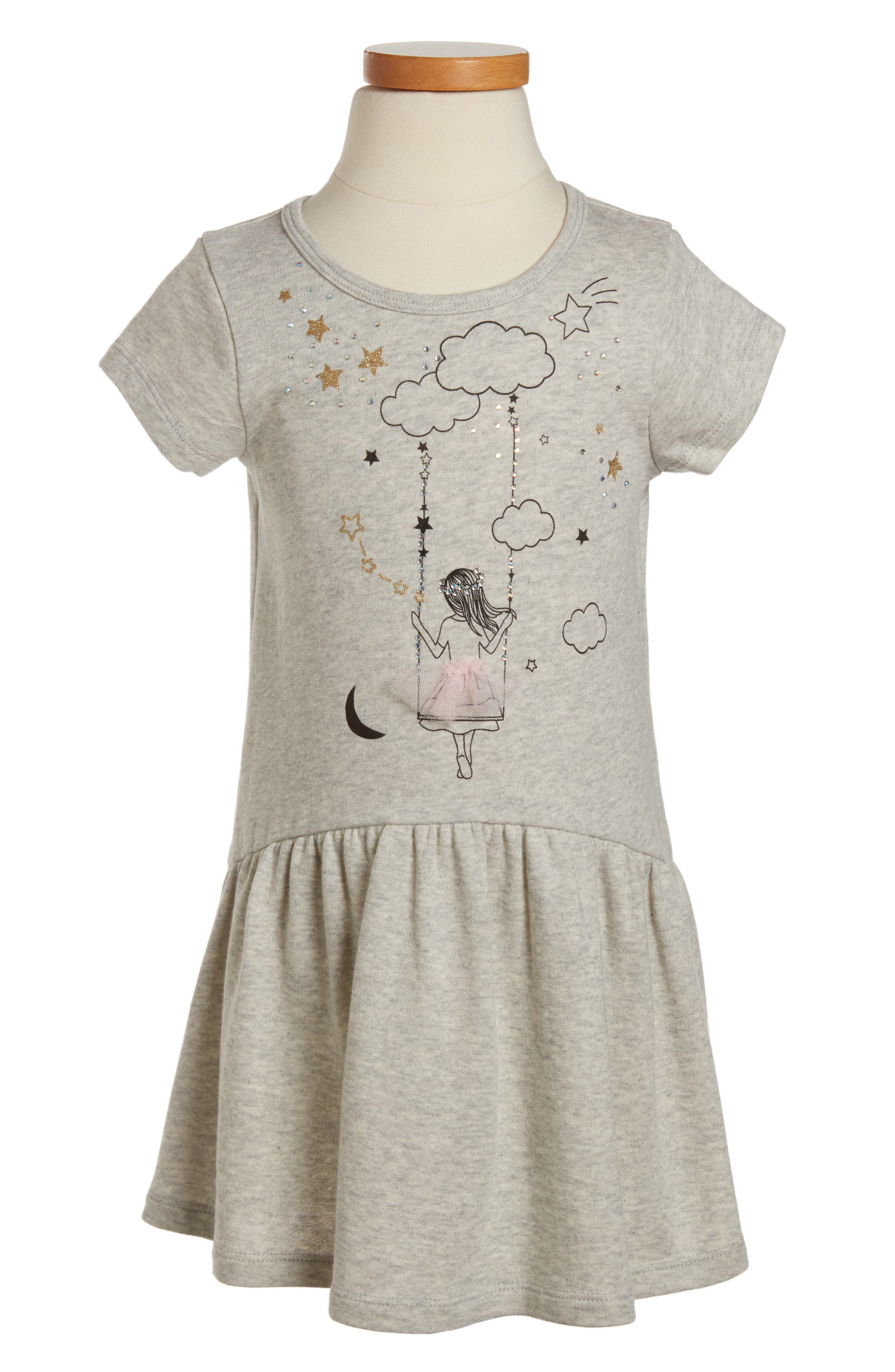 Main Image - Truly Me Girl On the Swing Knit Dress (Toddler Girls & Little Girls)