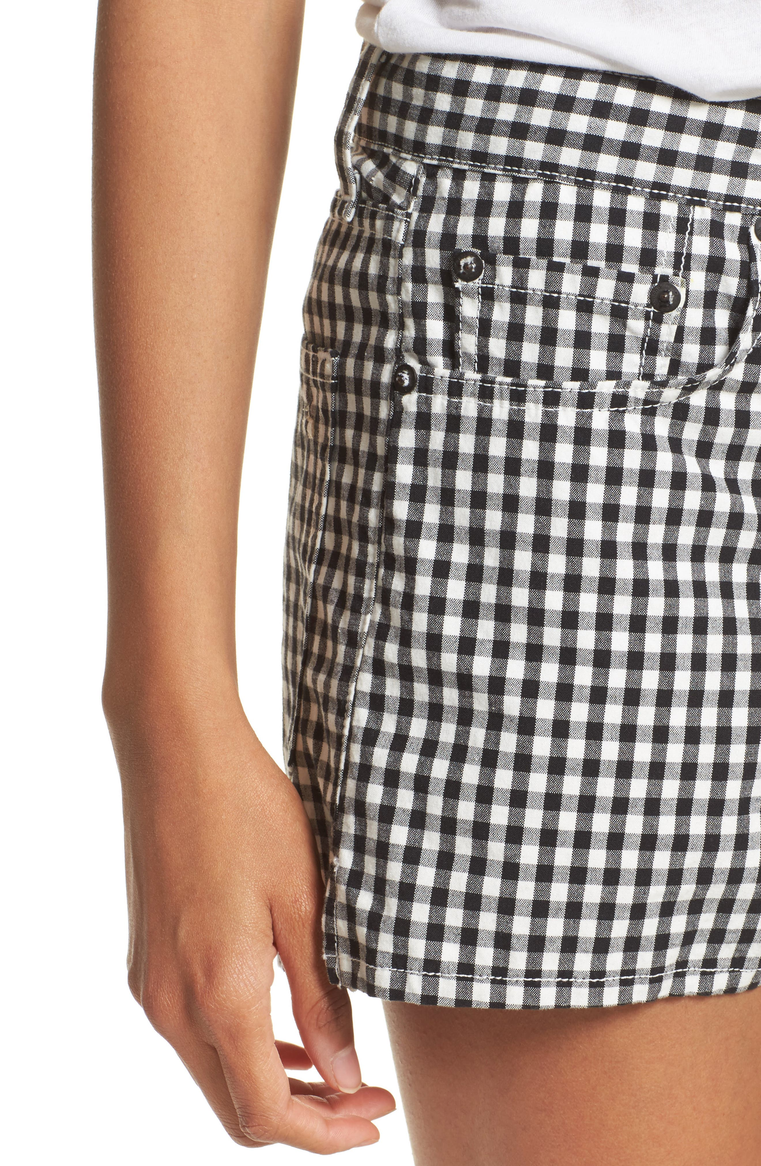 Justine Gingham Shorts,                             Alternate thumbnail 4, color,                             Gingham