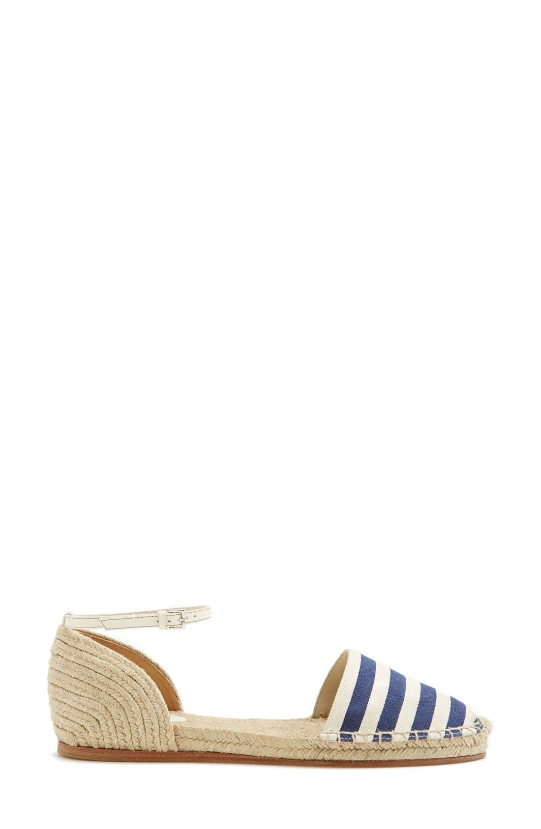 Alternate Image 4  - Gucci 'Veronique' Ankle Strap d'Orsay Espadrille Flat (Women)
