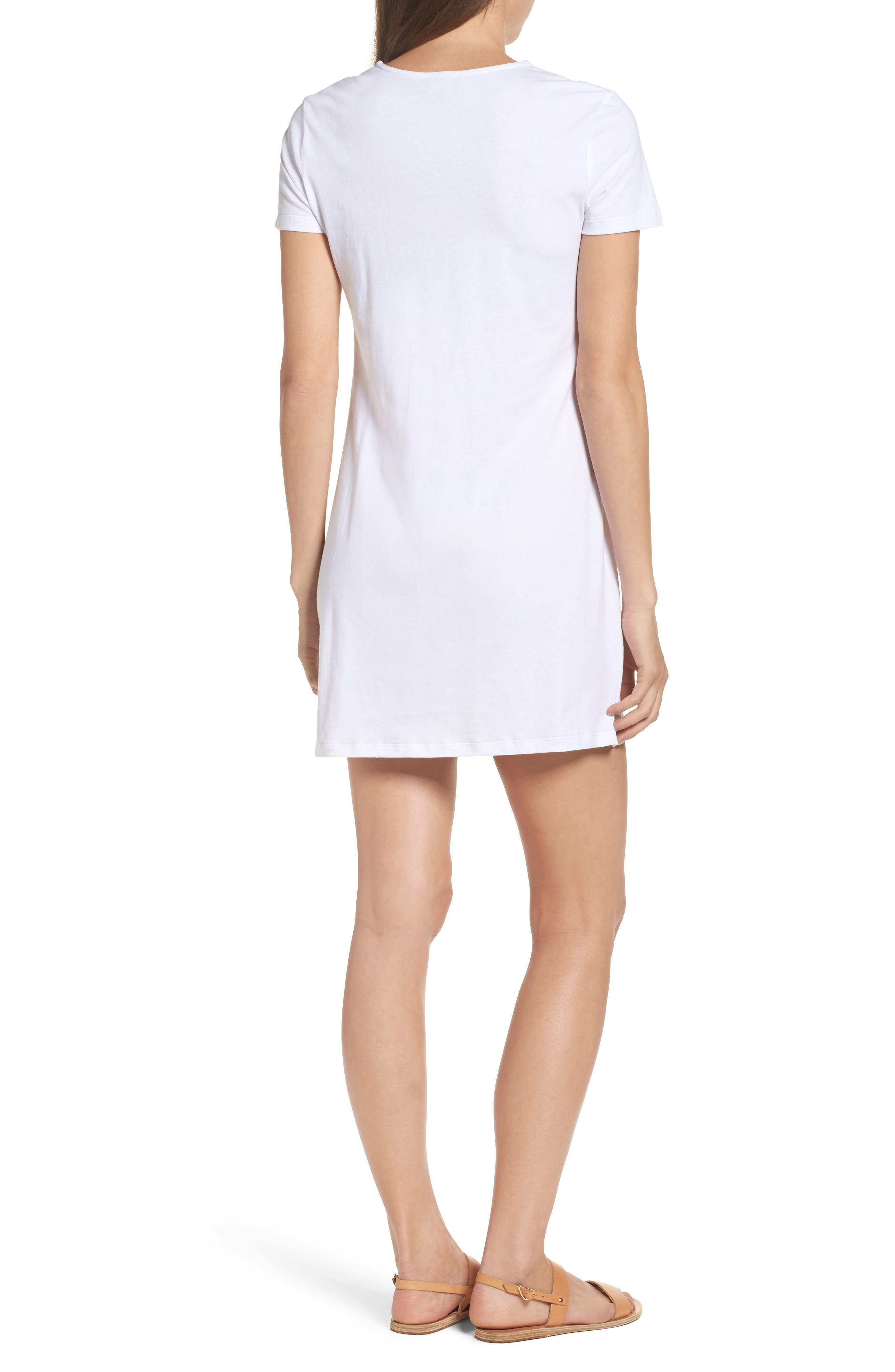 Alternate Image 2  - Bardot Lace-Up Shirtdress