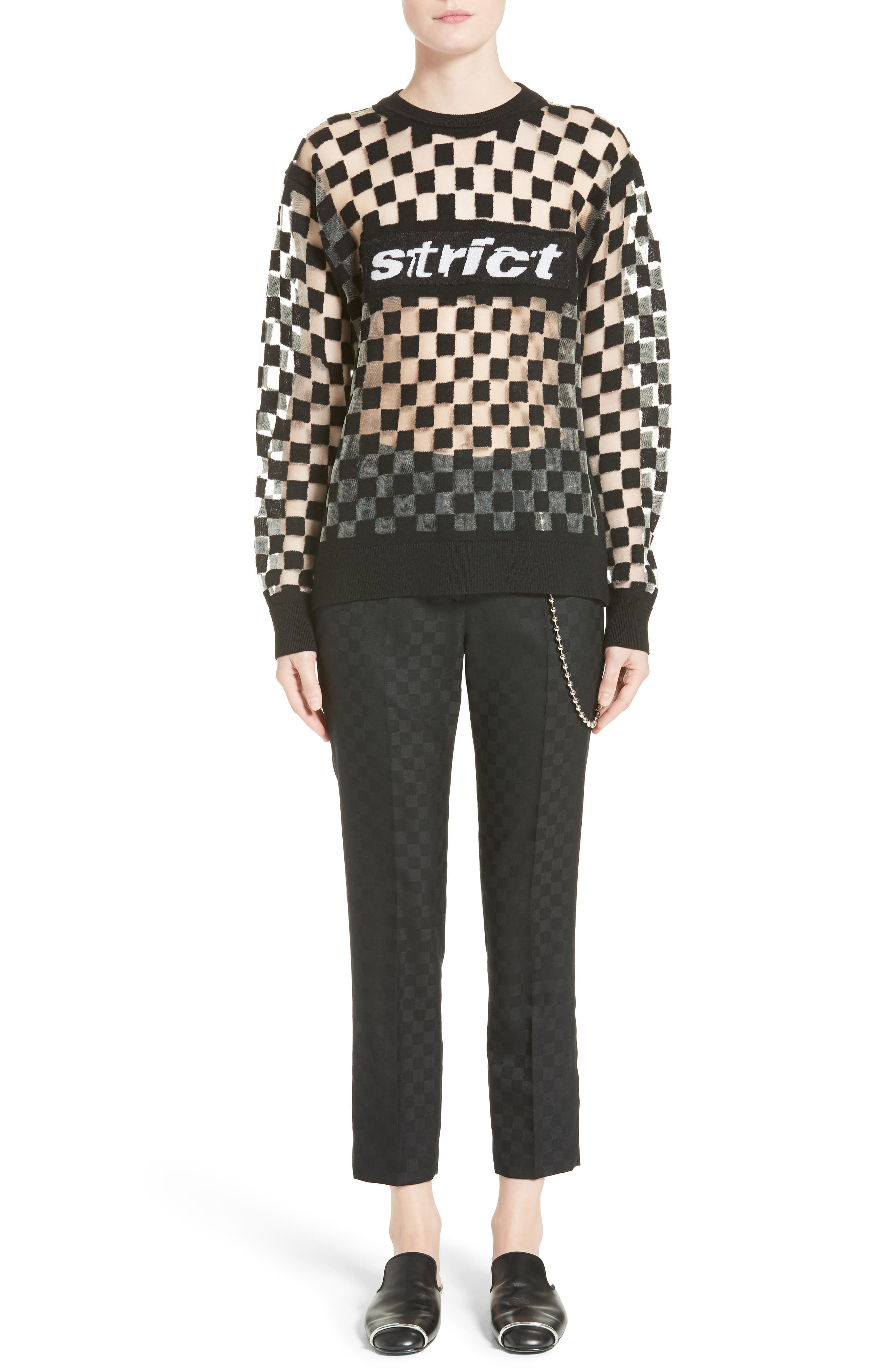 Alternate Image 8  - Alexander Wang Chain Trim Checkerboard Pants
