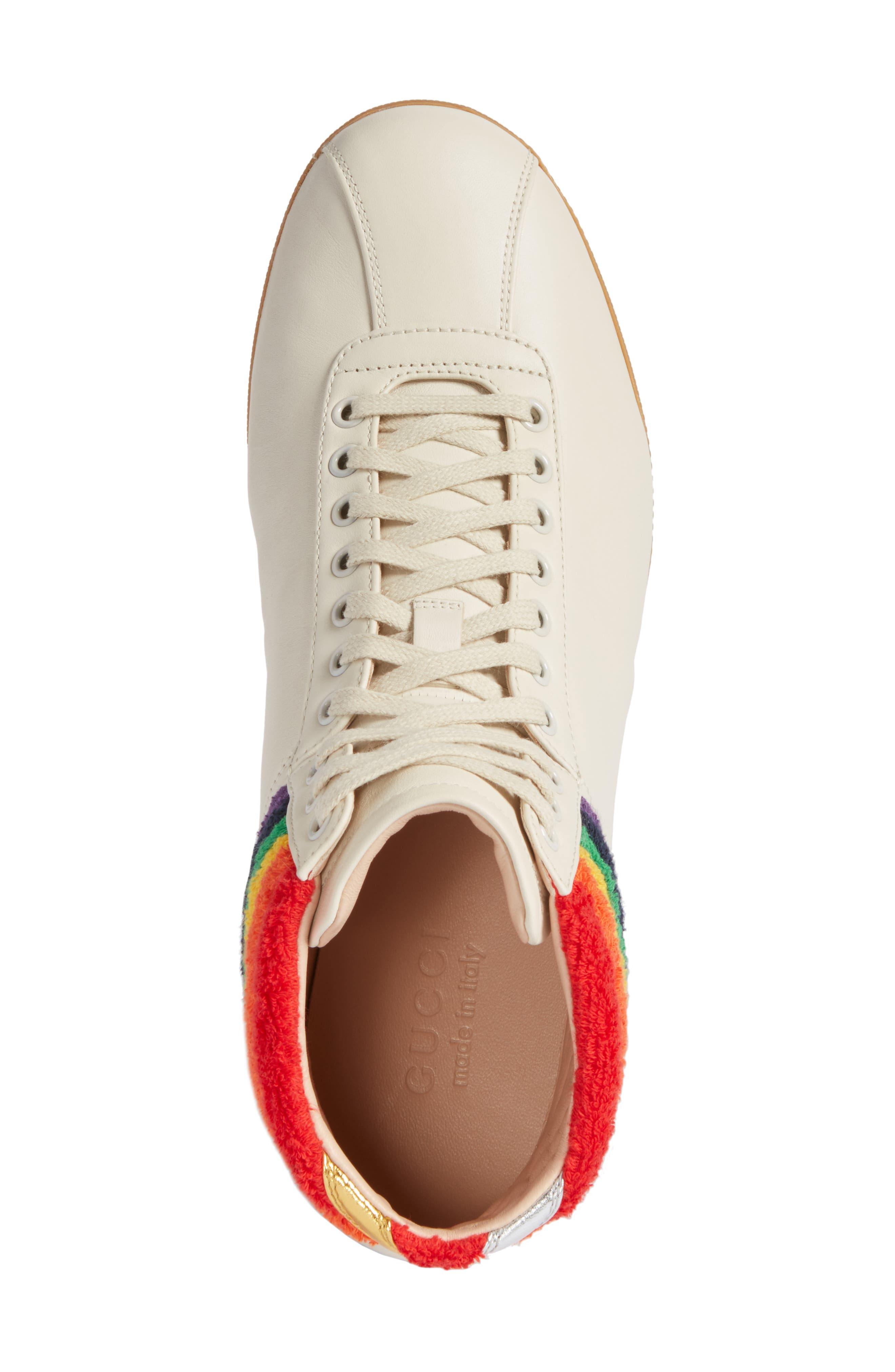 Alternate Image 5  - Gucci Bambi Rainbow Terry High Top Sneaker (Men)