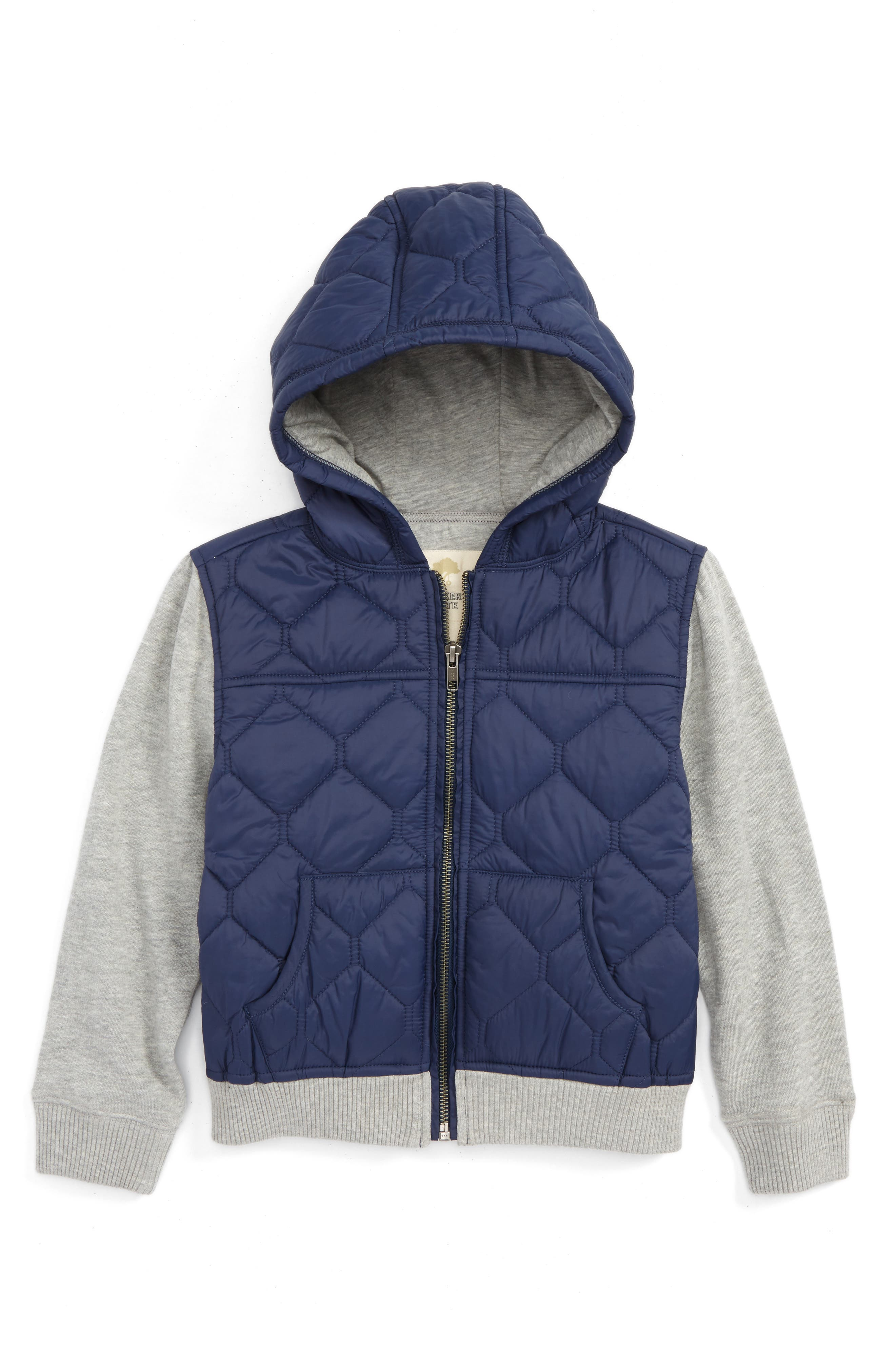 Tucker + Tate Quilted Zip-Up Hoodie (Toddler Boys & Little Boys)
