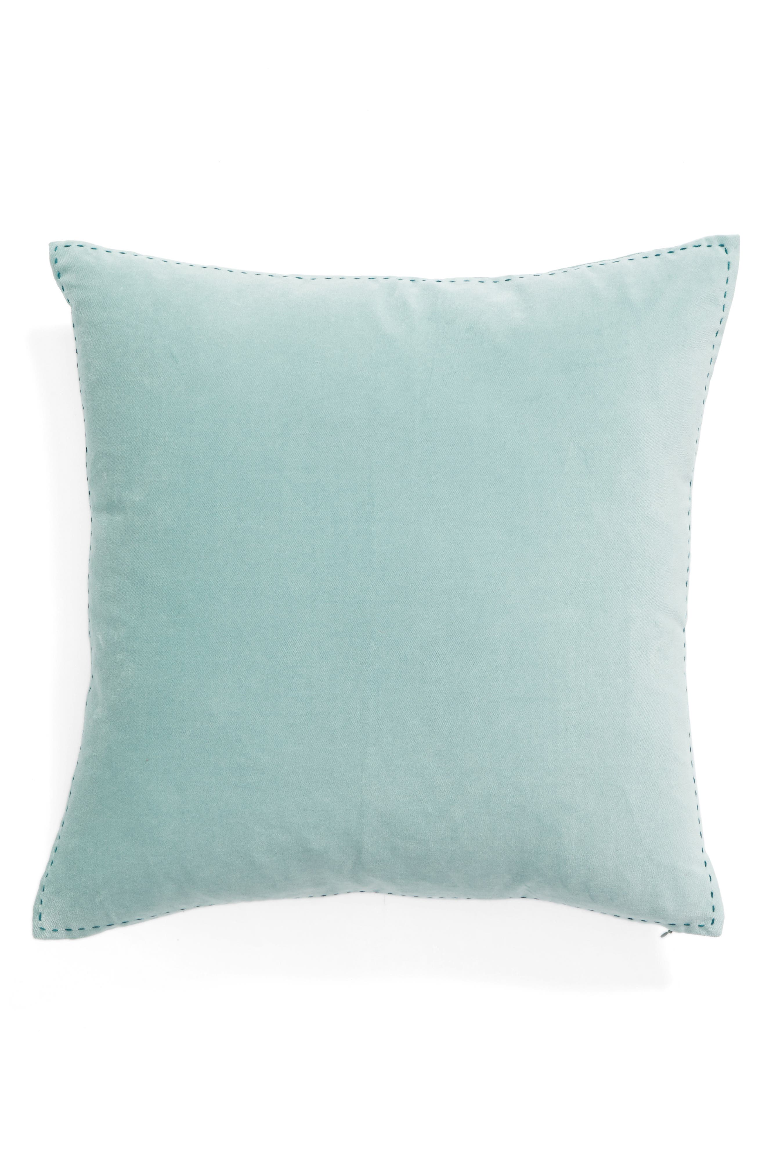 Alternate Image 2  - Nordstrom at Home Ticking Border Accent Pillow