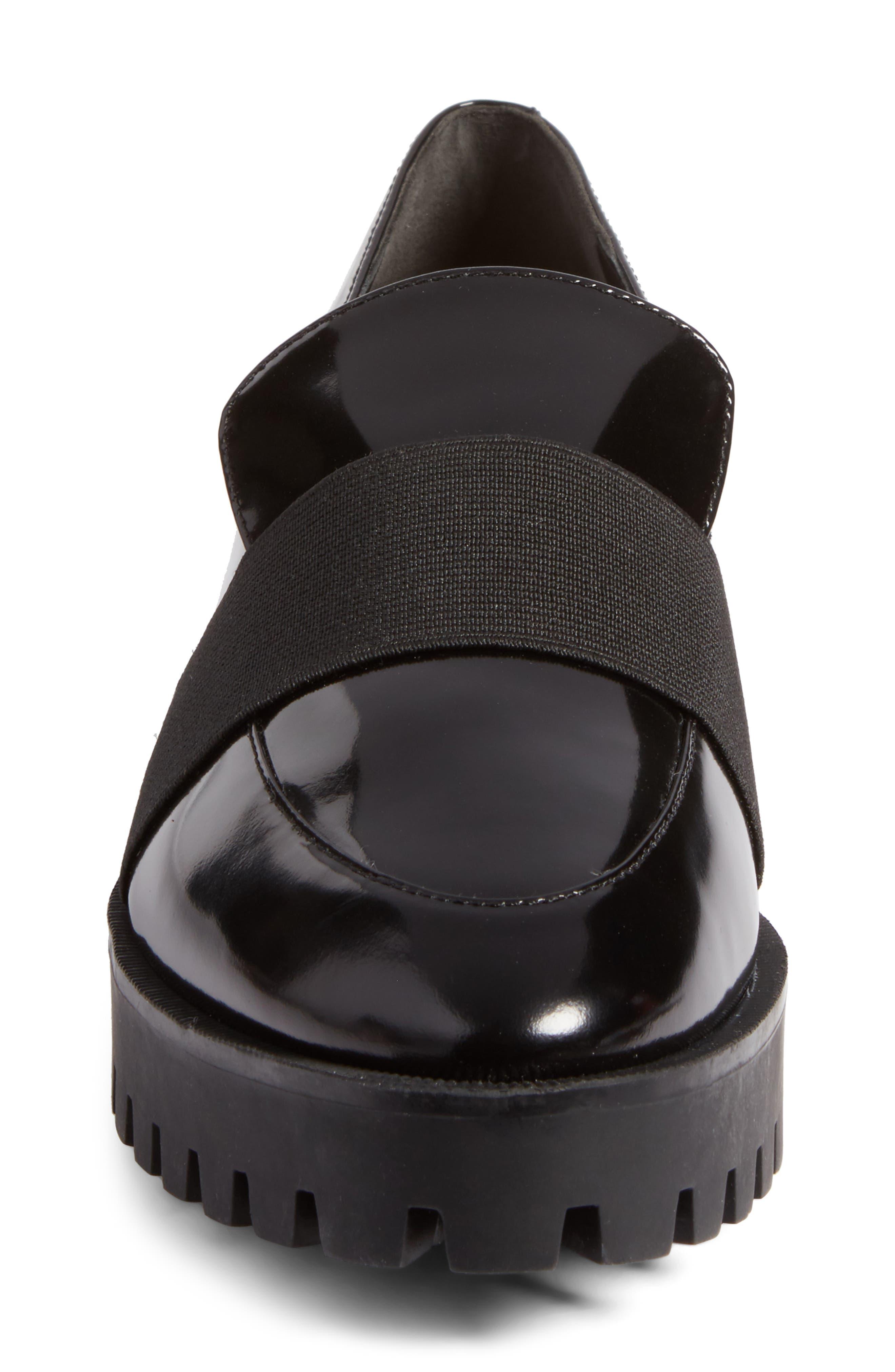 Gallo Platform Loafer,                             Alternate thumbnail 5, color,                             Black Leather