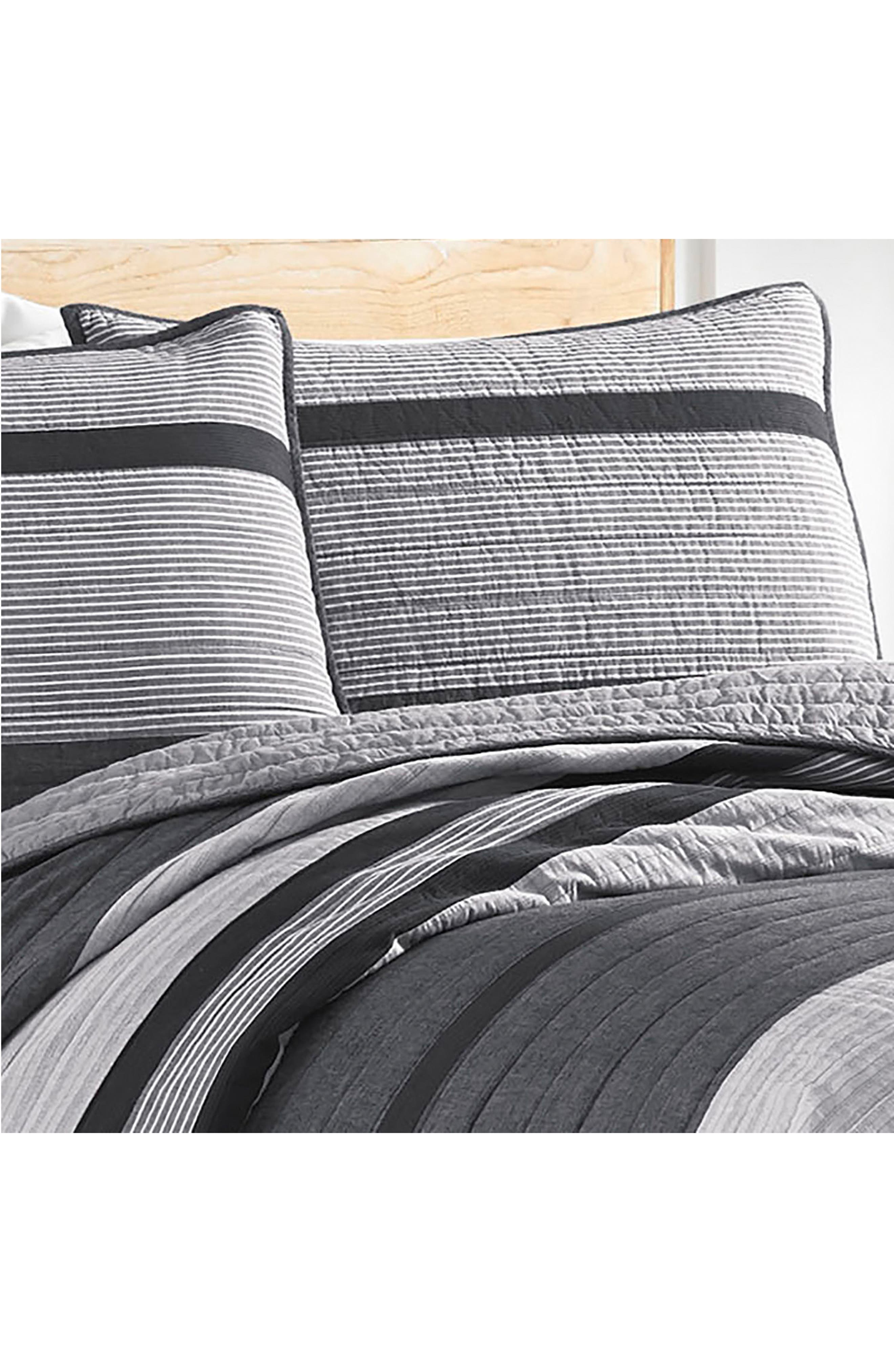 Vessey Quilted Sham,                             Alternate thumbnail 2, color,                             Grey