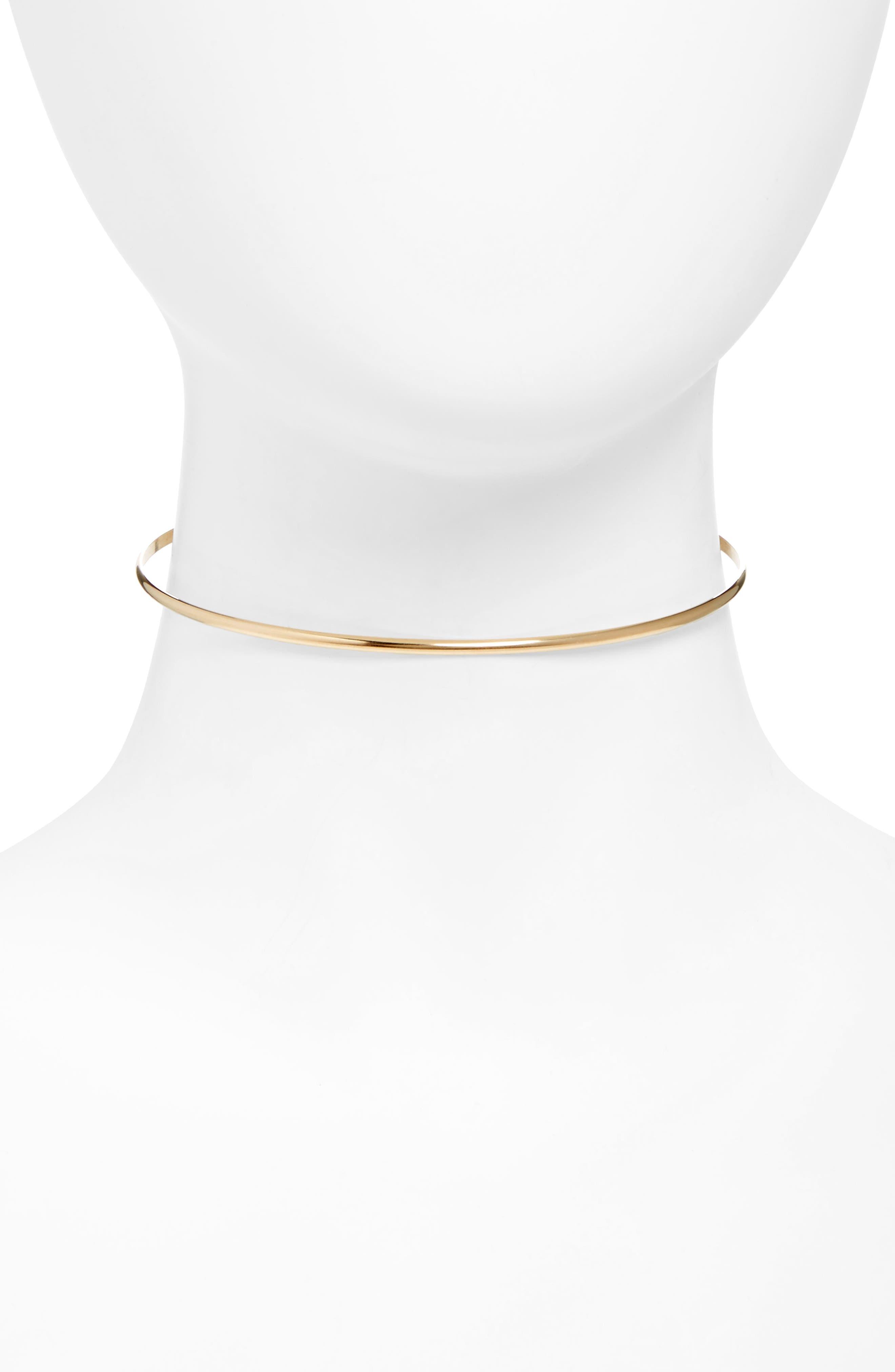 Sydney Thin Choker,                         Main,                         color, Gold