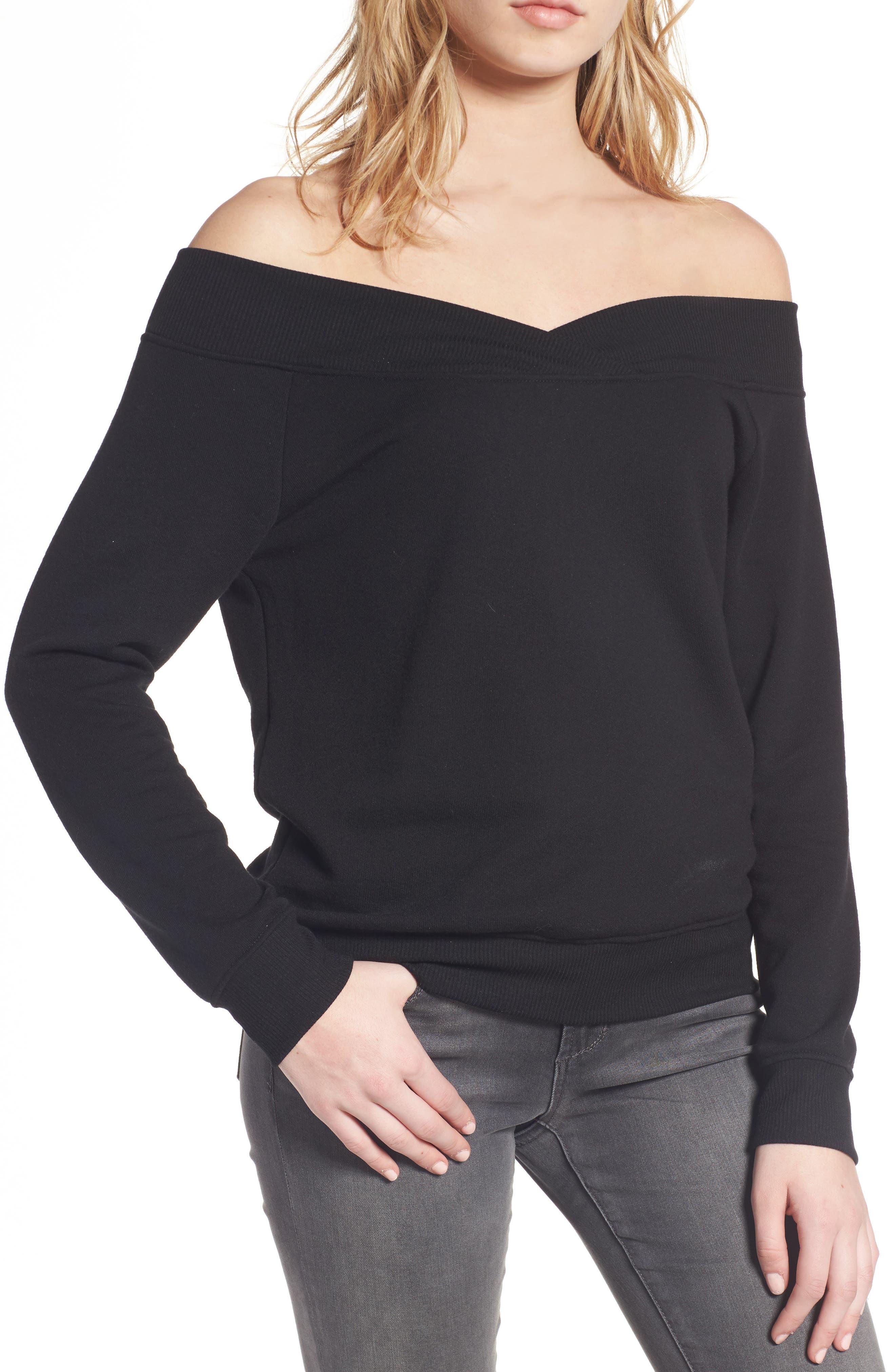 Socialite Off the Shoulder Sweatshirt